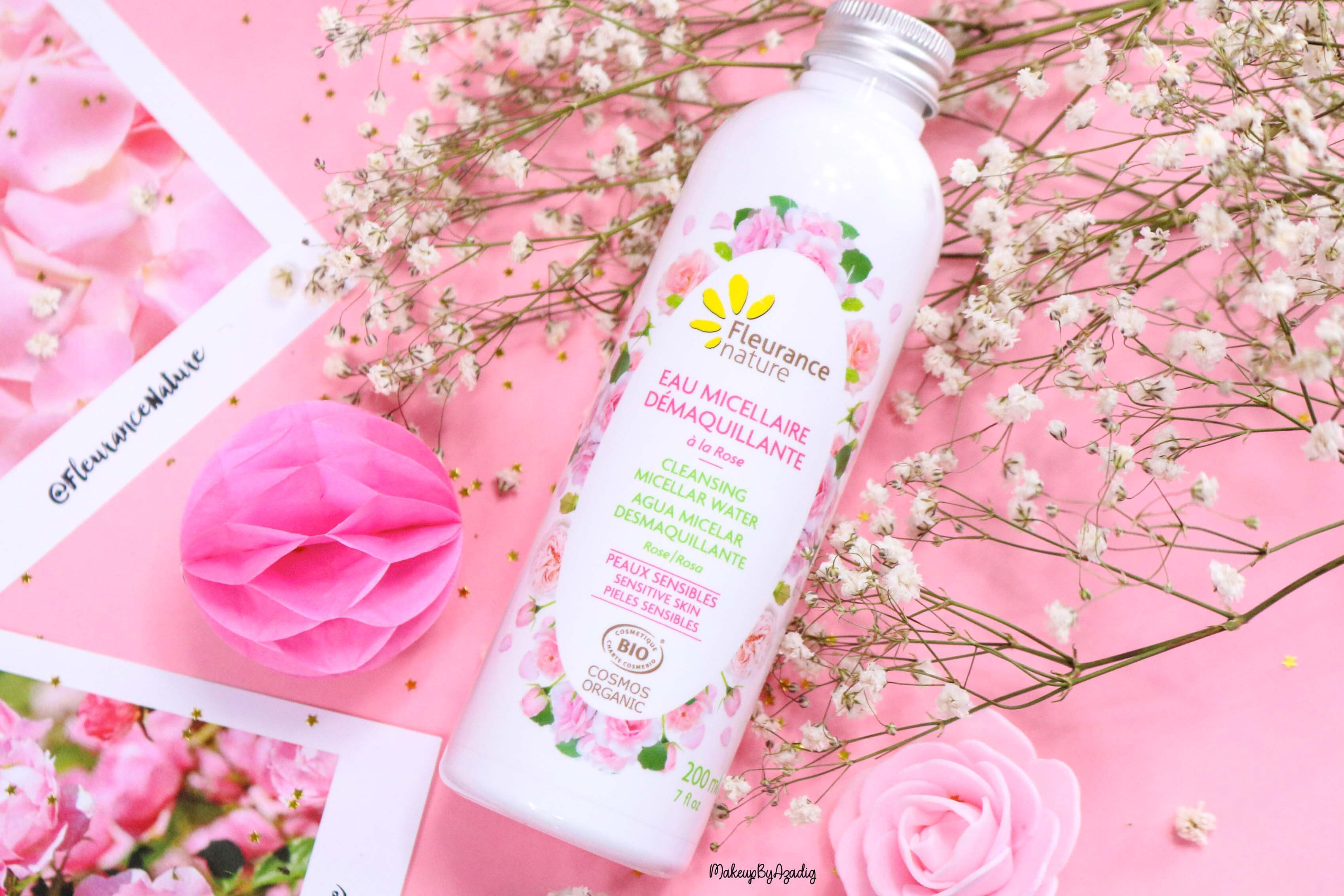 revue-eau-micellaire-demaquillante-eau-florale-rose-fleurance-nature-demaquillage-parfait-peau-acneique-makeupbyazadig-avis-prix-promo-ecocert