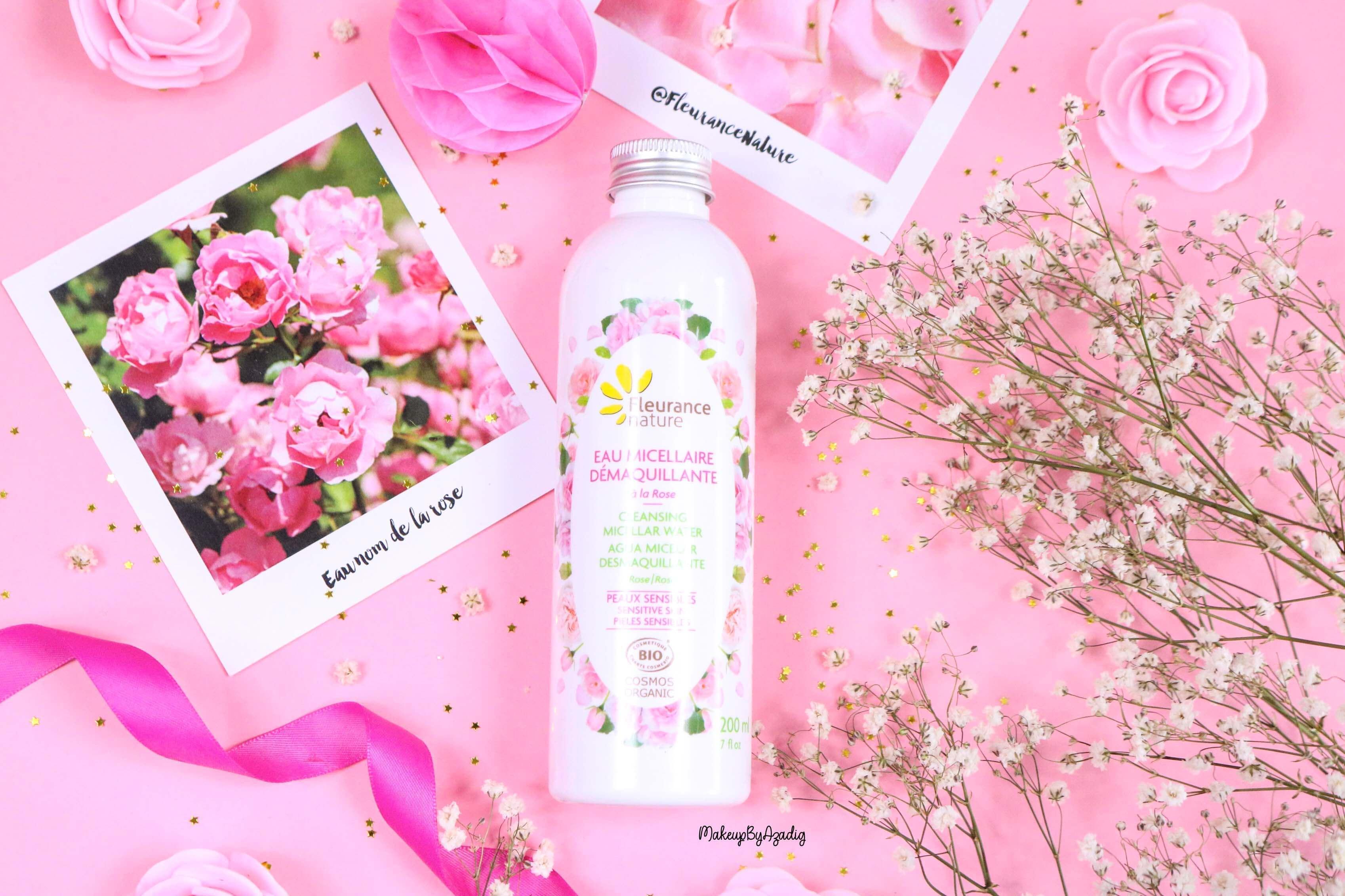 revue-eau-micellaire-demaquillante-eau-florale-rose-fleurance-nature-demaquillage-parfait-peau-acneique-makeupbyazadig-avis-prix-promo-meilleur