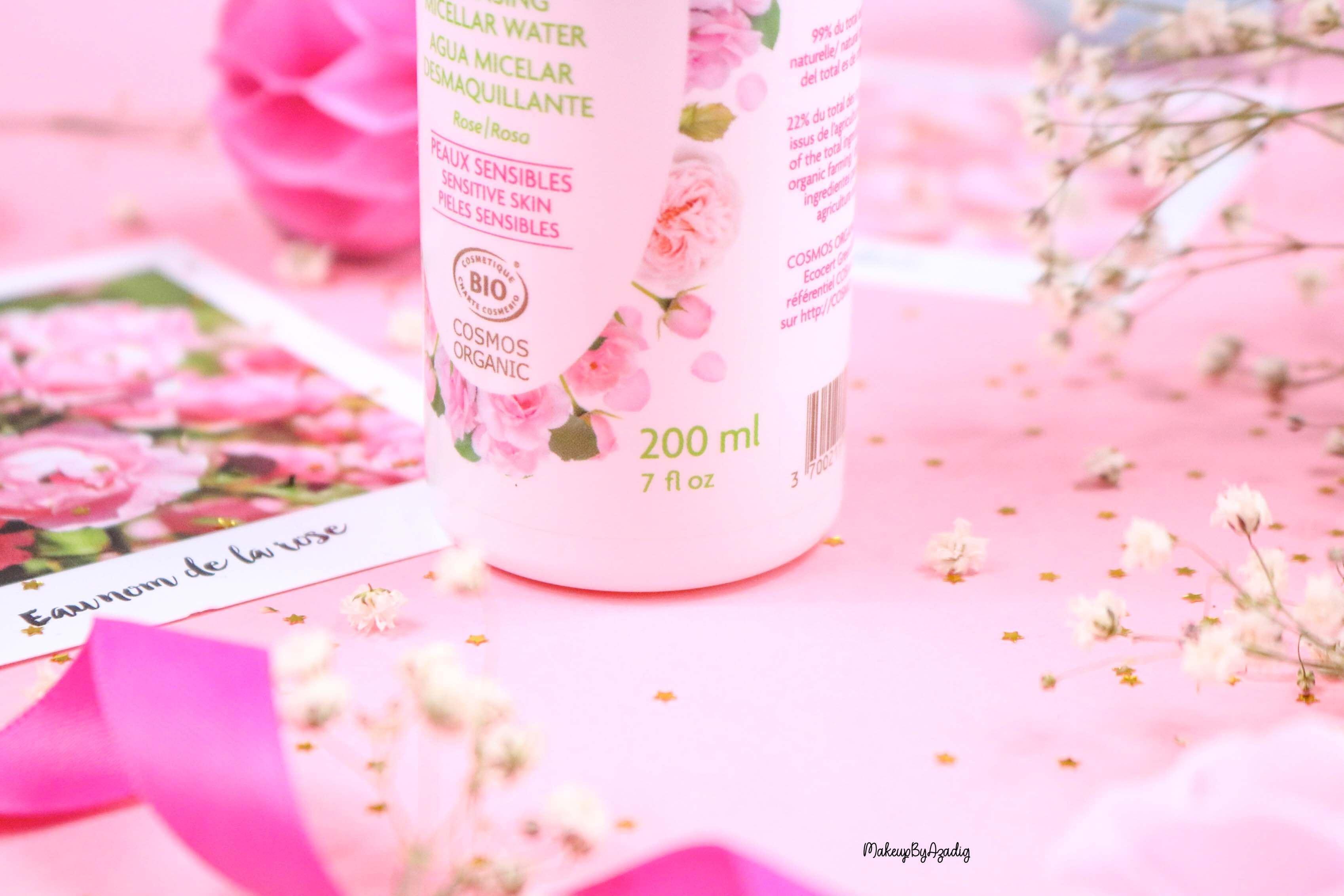 revue-eau-micellaire-demaquillante-eau-florale-rose-fleurance-nature-demaquillage-parfait-peau-acneique-makeupbyazadig-avis-prix-promo-quantite