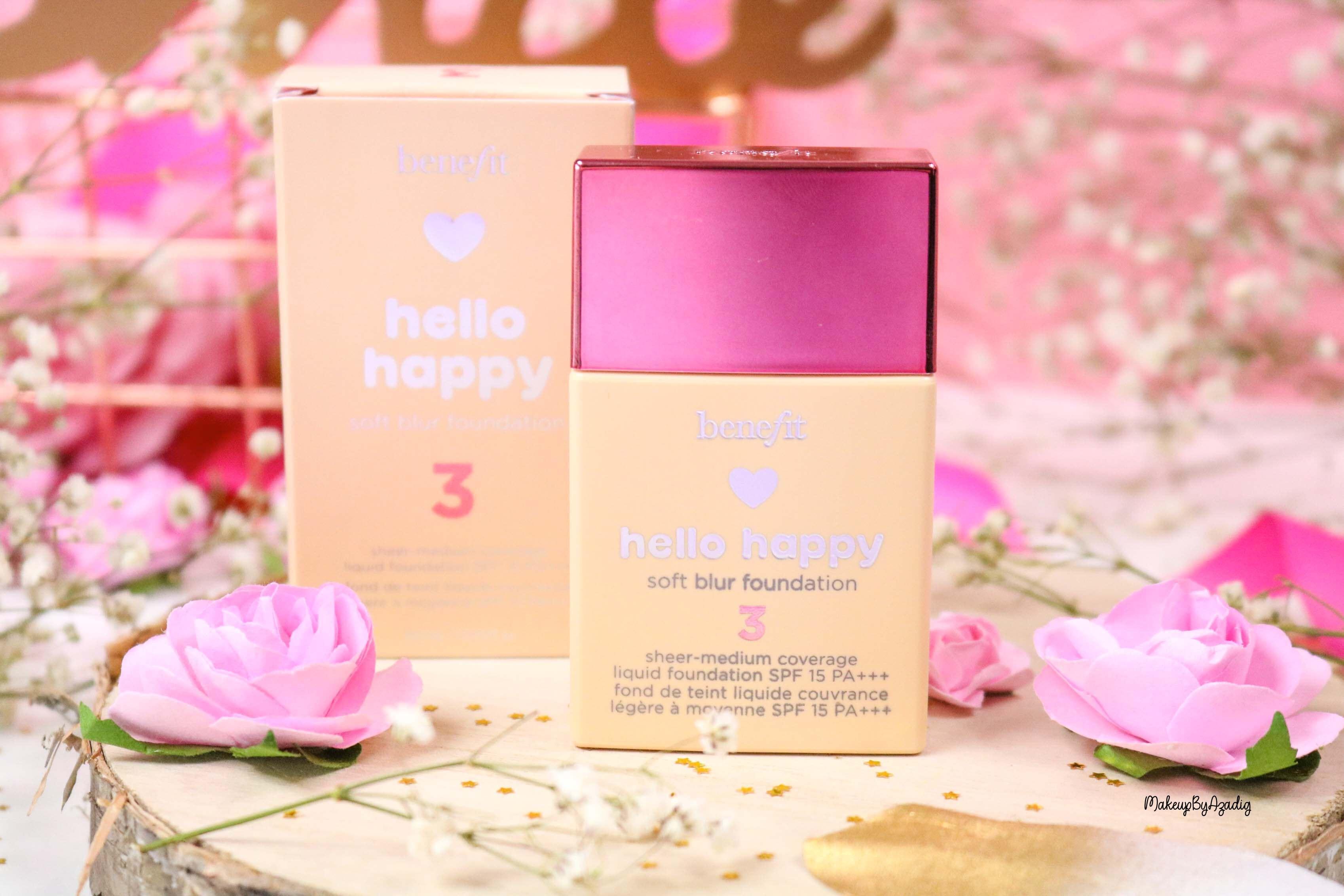 revue-nouveau-fond-de-teint-hello-happy-benefit-sephora-prix-avis-teintes-makeupbyazadig-liquid