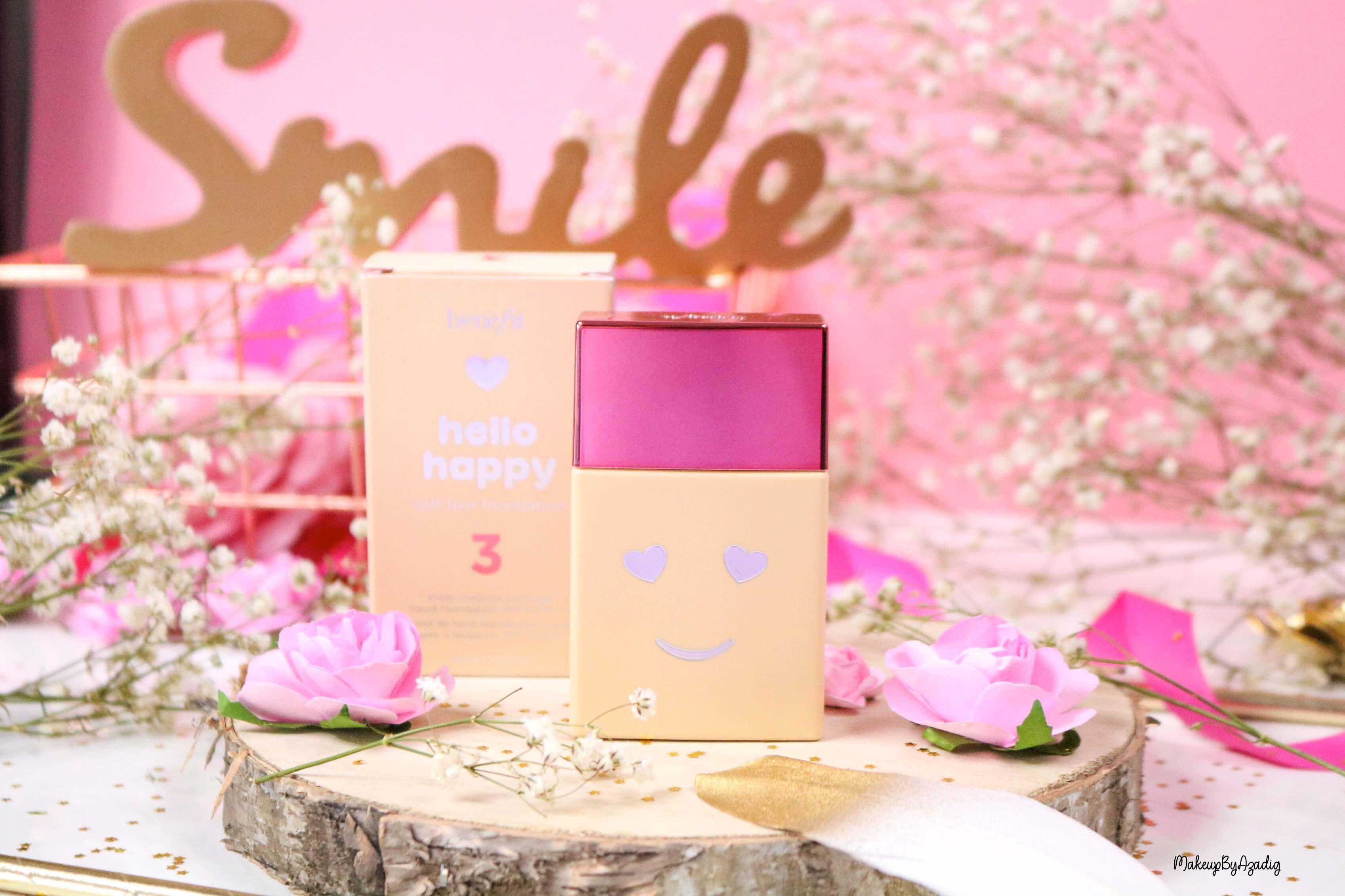 revue-nouveau-fond-de-teint-hello-happy-benefit-sephora-prix-avis-teintes-makeupbyazadig-miniature