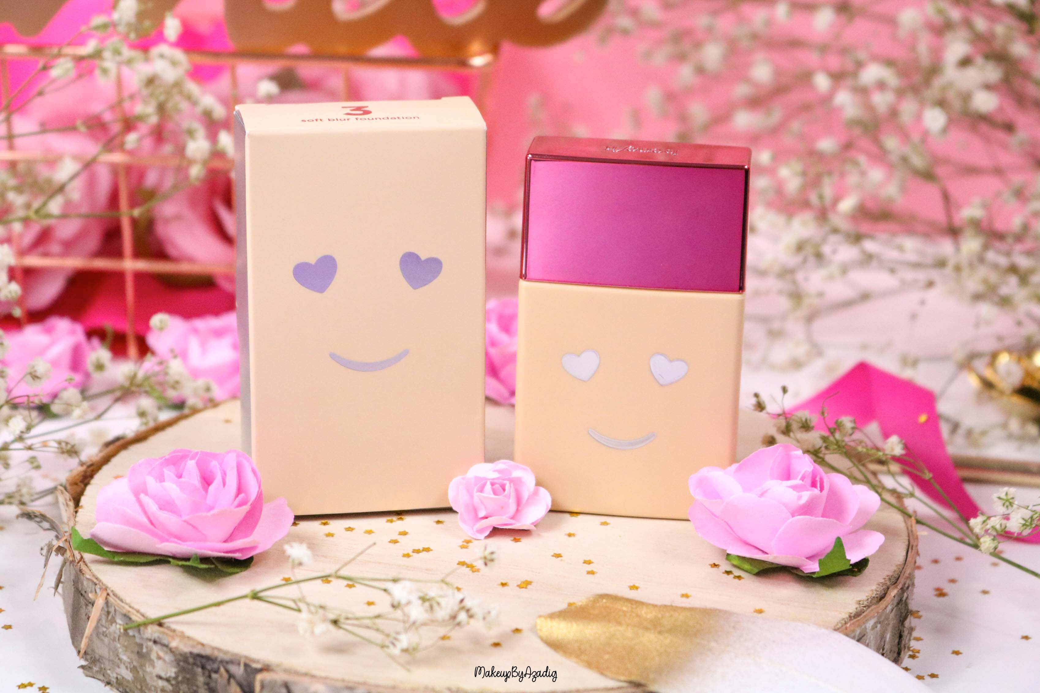 revue-nouveau-fond-de-teint-hello-happy-benefit-sephora-prix-avis-teintes-makeupbyazadig-smiley
