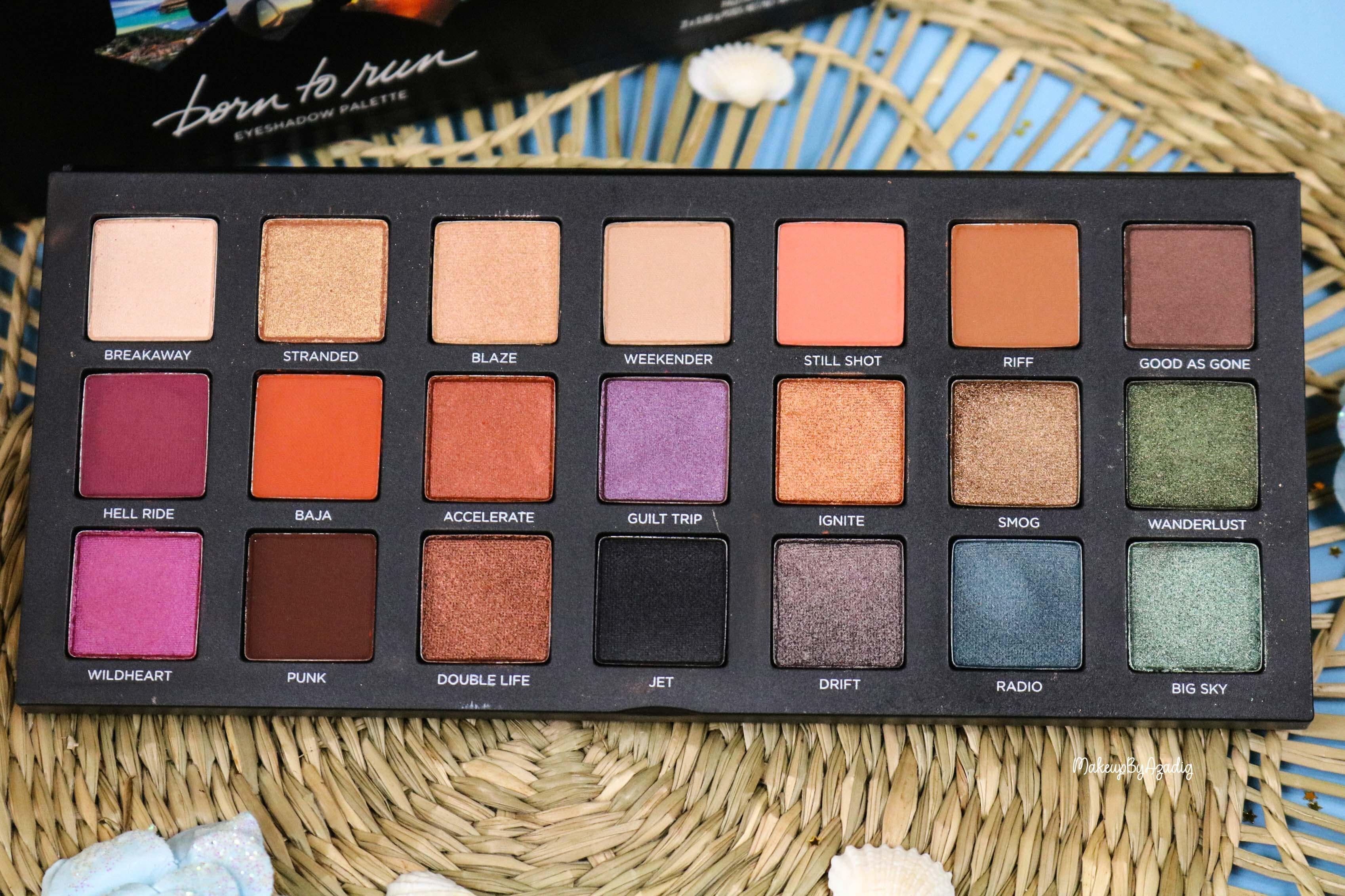 revue-nouvelle-palette-de-fards-paupieres-born-to-run-urban-decay-sephora-prix-avis-makeupbyazadig-couleurs