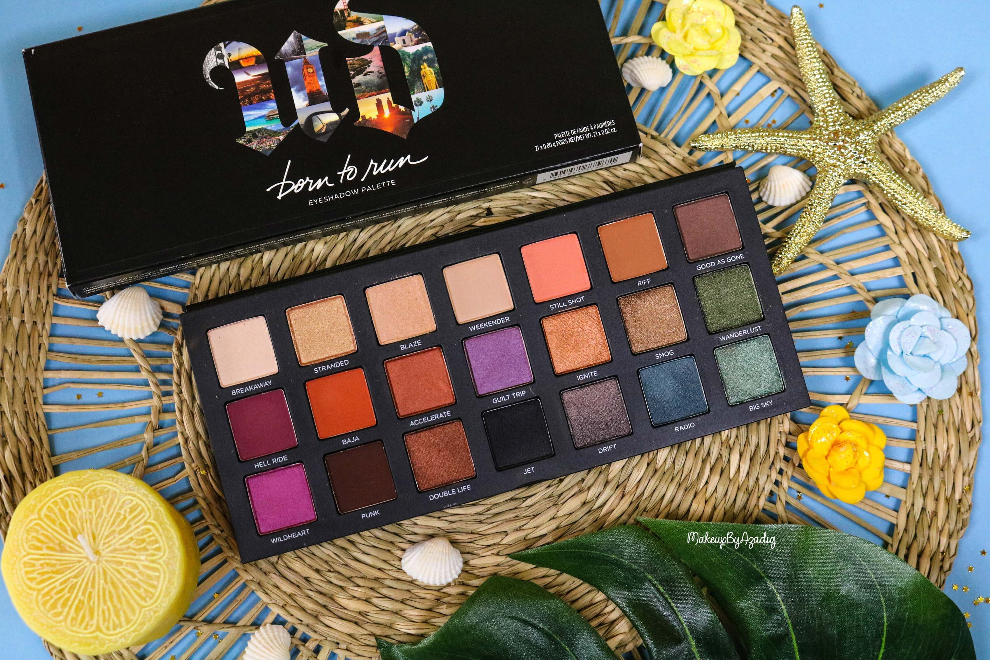 revue-nouvelle-palette-de-fards-paupieres-born-to-run-urban-decay-sephora-prix-avis-makeupbyazadig-travel