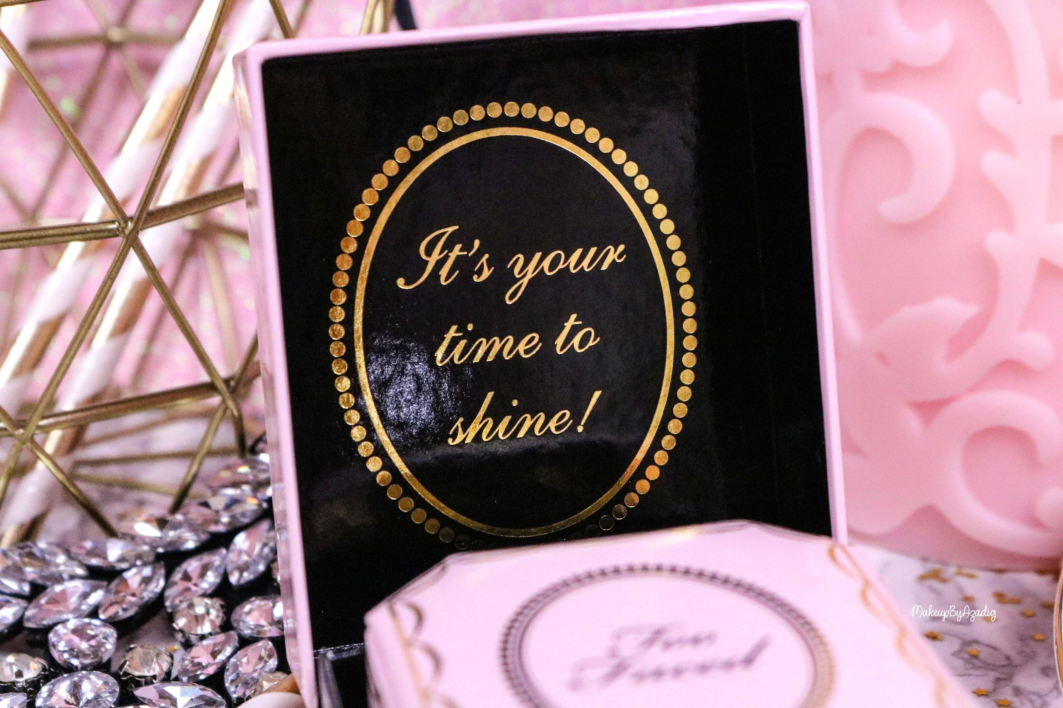 revue-highlighter-diamond-light-toofaced-enlumineur-diamant-collection-makeup-makeupbyazadig-sortie-france-influencer-swatch-avis-prix-mariage