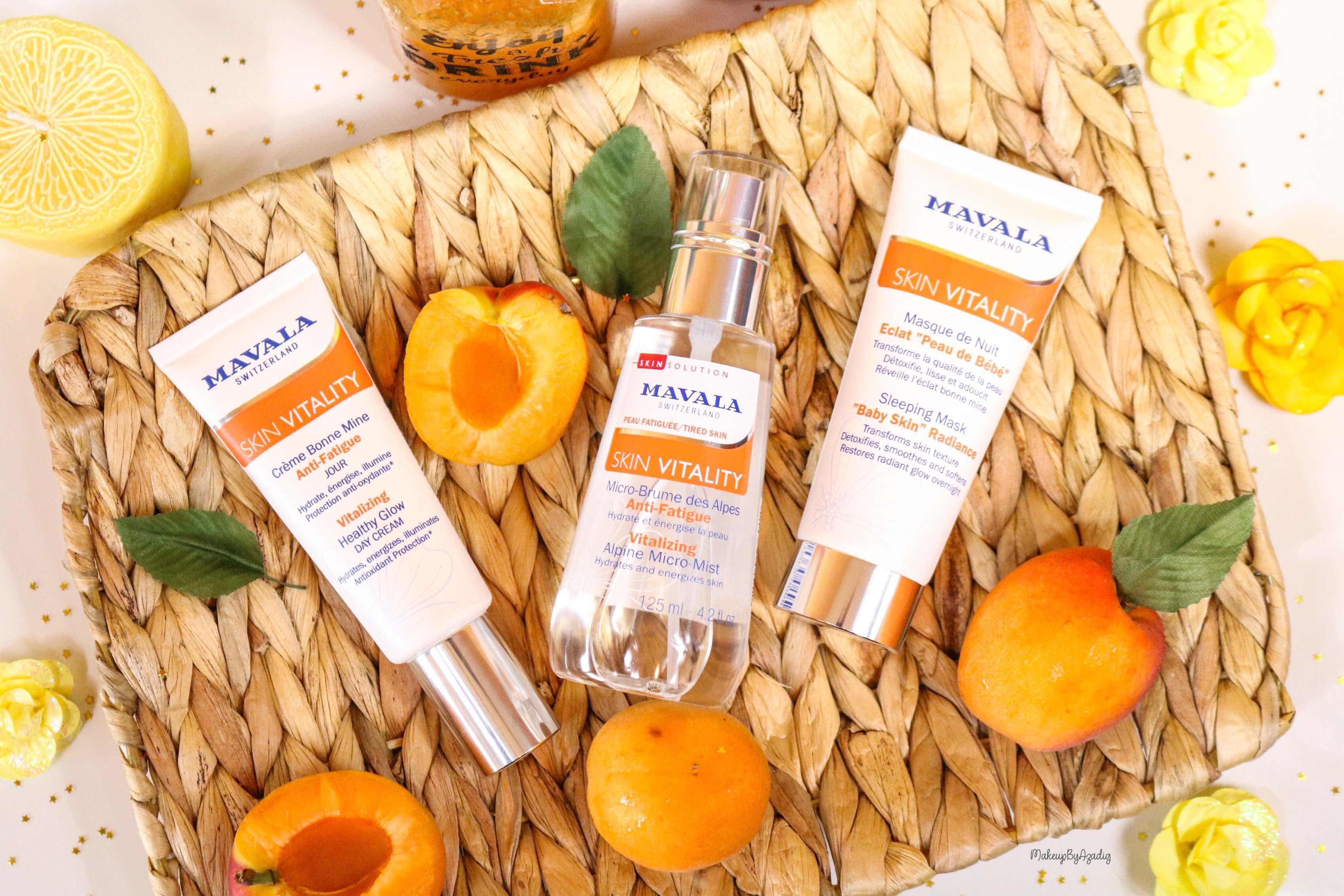 revue-routine-soin-bio-efficace-peau-sensible-skin-vitality-mavala-suisse-masque-nuit-serum-creme-jour-makeupbyazadig-nouveautes