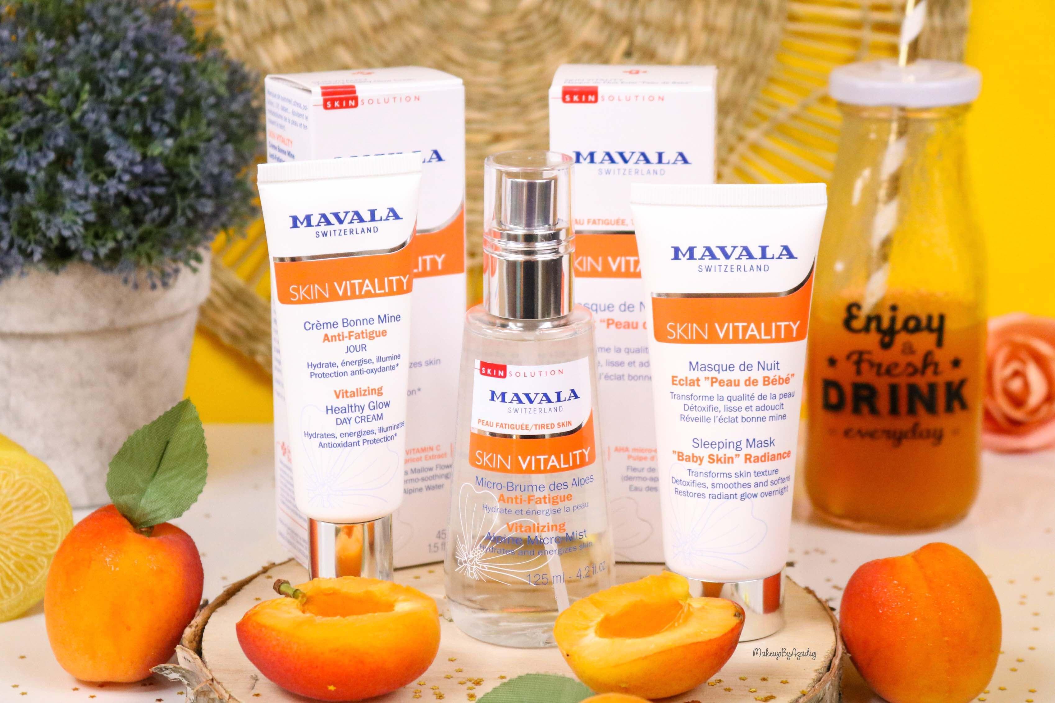 revue-routine-soin-bio-efficace-peau-sensible-skin-vitality-mavala-suisse-masque-nuit-serum-creme-jour-makeupbyazadig-skincare