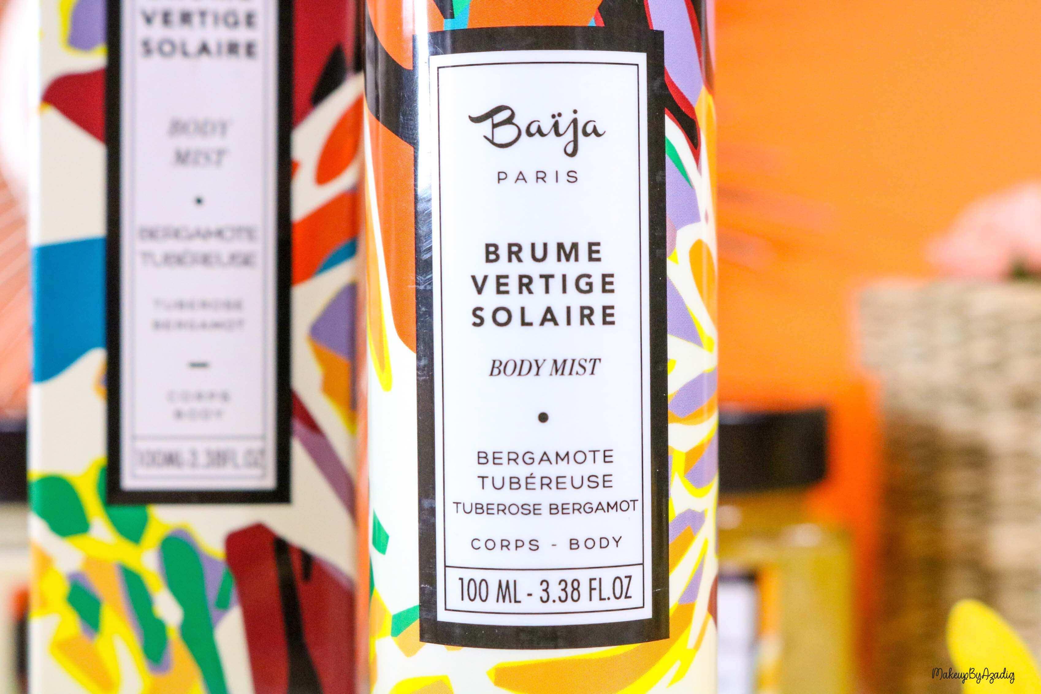nouveaute-soin-baija-vertige-solaire-sephora-promo-code-gommage-creme-corps-brume-avis-prix-makeupbyazadig-qualite-commande