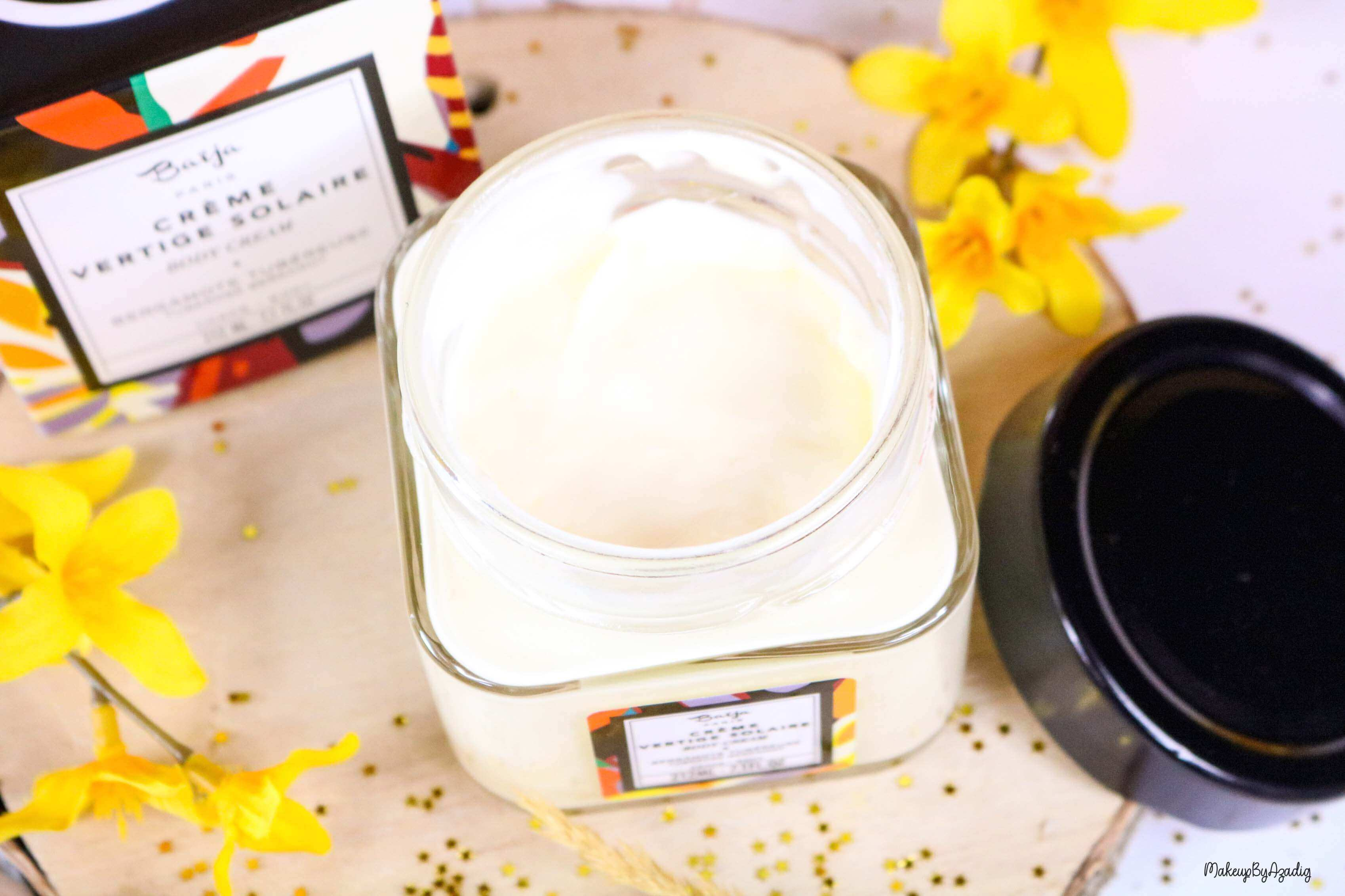 nouveaute-soin-baija-vertige-solaire-sephora-promo-code-gommage-creme-corps-brume-avis-prix-makeupbyazadig-qualite-cream