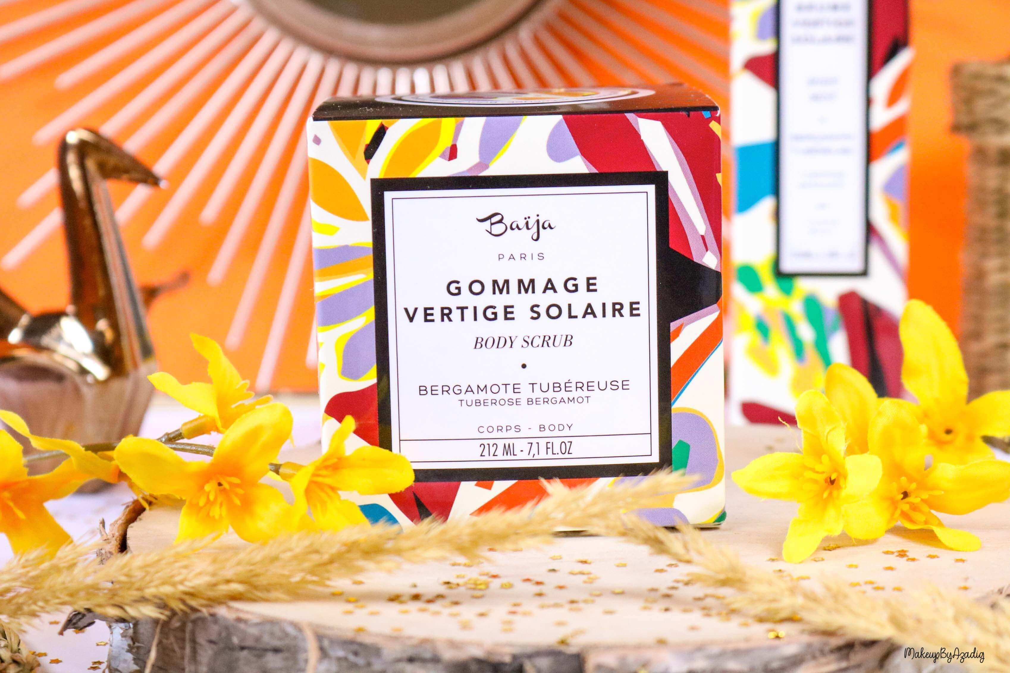 nouveaute-soin-baija-vertige-solaire-sephora-promo-code-gommage-creme-corps-brume-avis-prix-qualite-makeupbyazadig-sucre