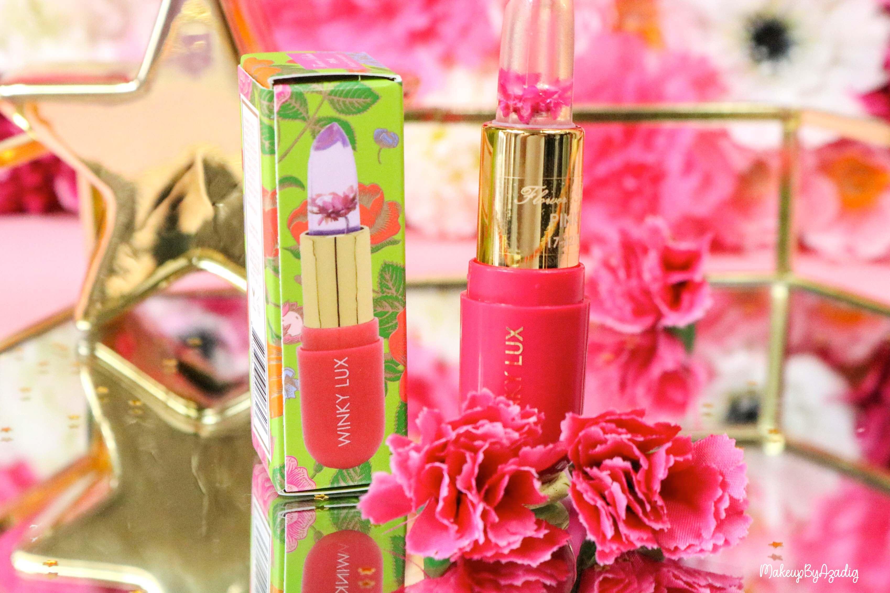 revue-flower-balm-baume-levres-winky-lux-sephora-rose-avis-prix-makeupbyazadig-fleur