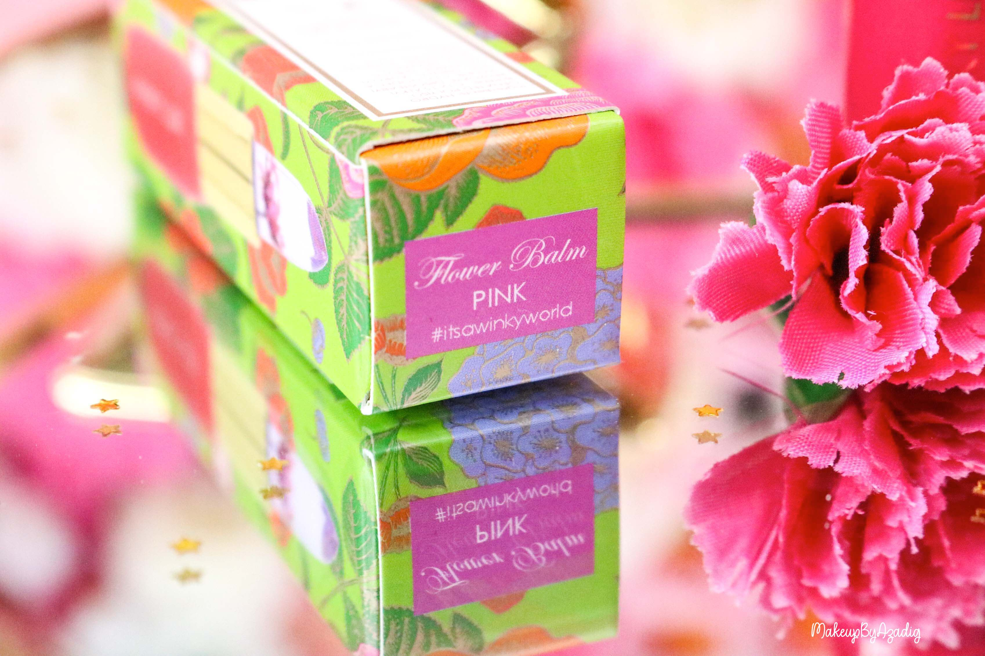 revue-flower-balm-baume-levres-winky-lux-sephora-rose-avis-prix-makeupbyazadig-itsawinkyworld