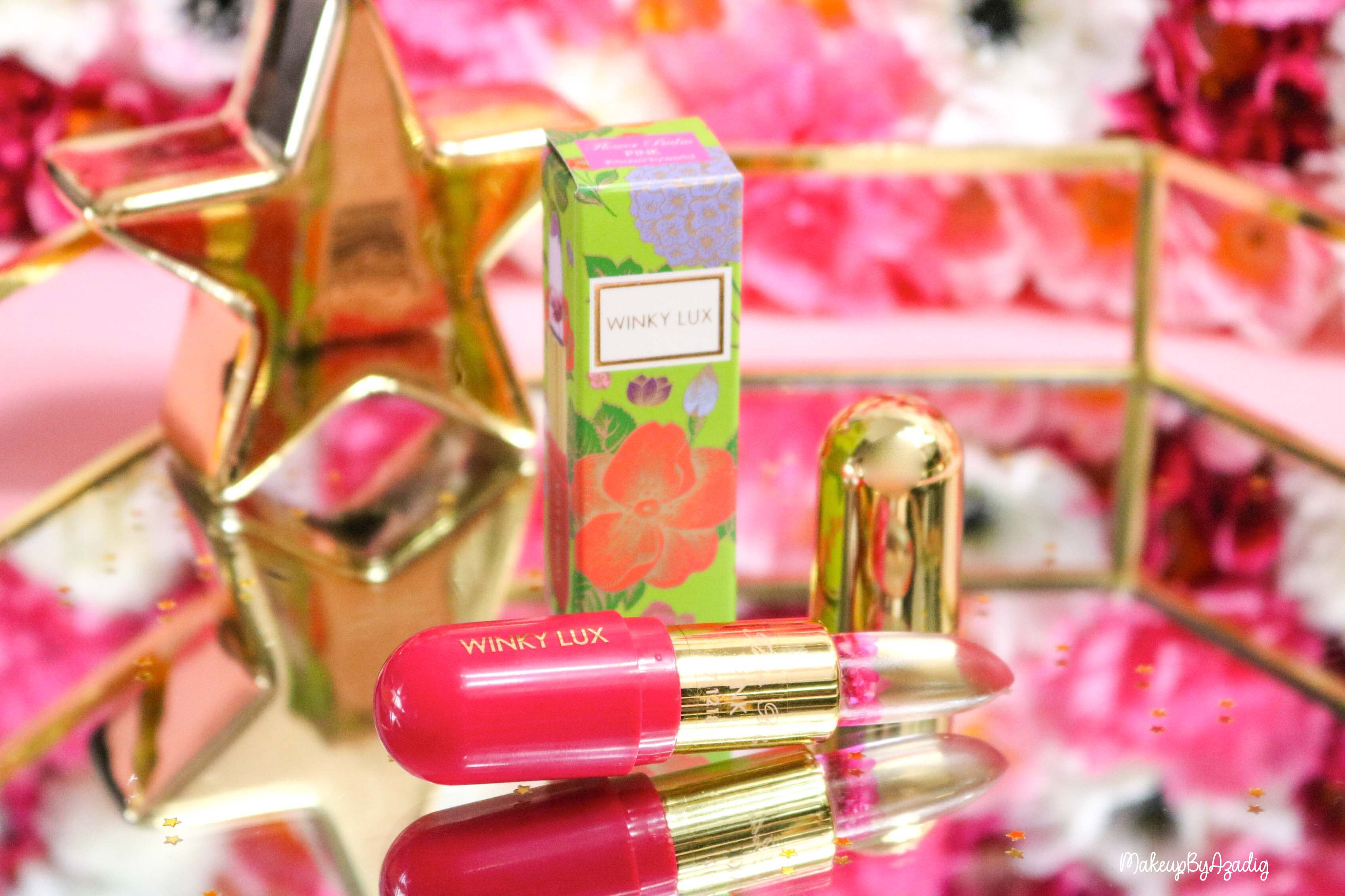 revue-flower-balm-baume-levres-winky-lux-sephora-rose-avis-prix-makeupbyazadig-packaging