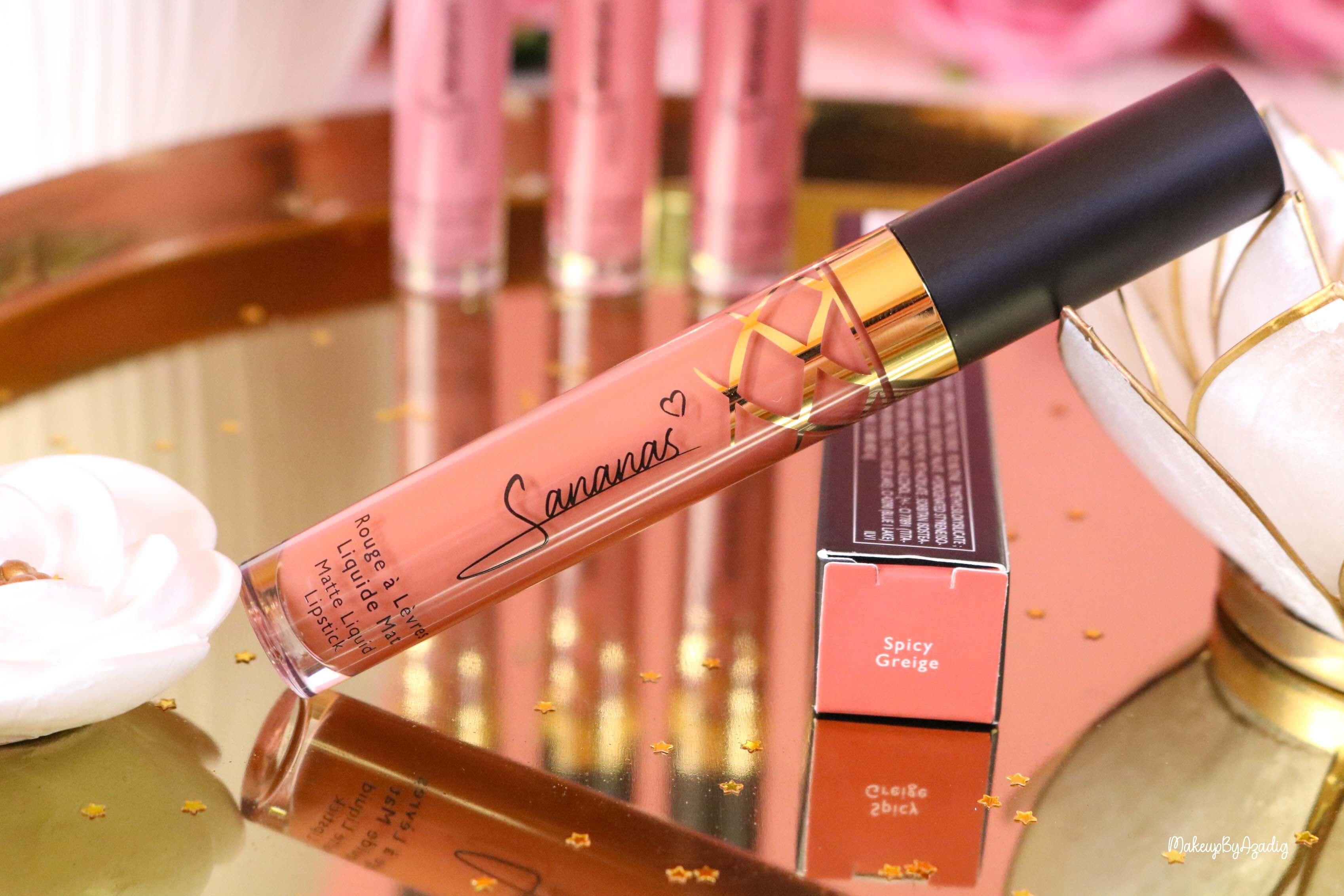 revue-marque-sananas-beauty-rouge-a-levres-vernis-kit-avis-prix-amazon-makeupbyazadig-dusty-pink-greige-rosier-spicy