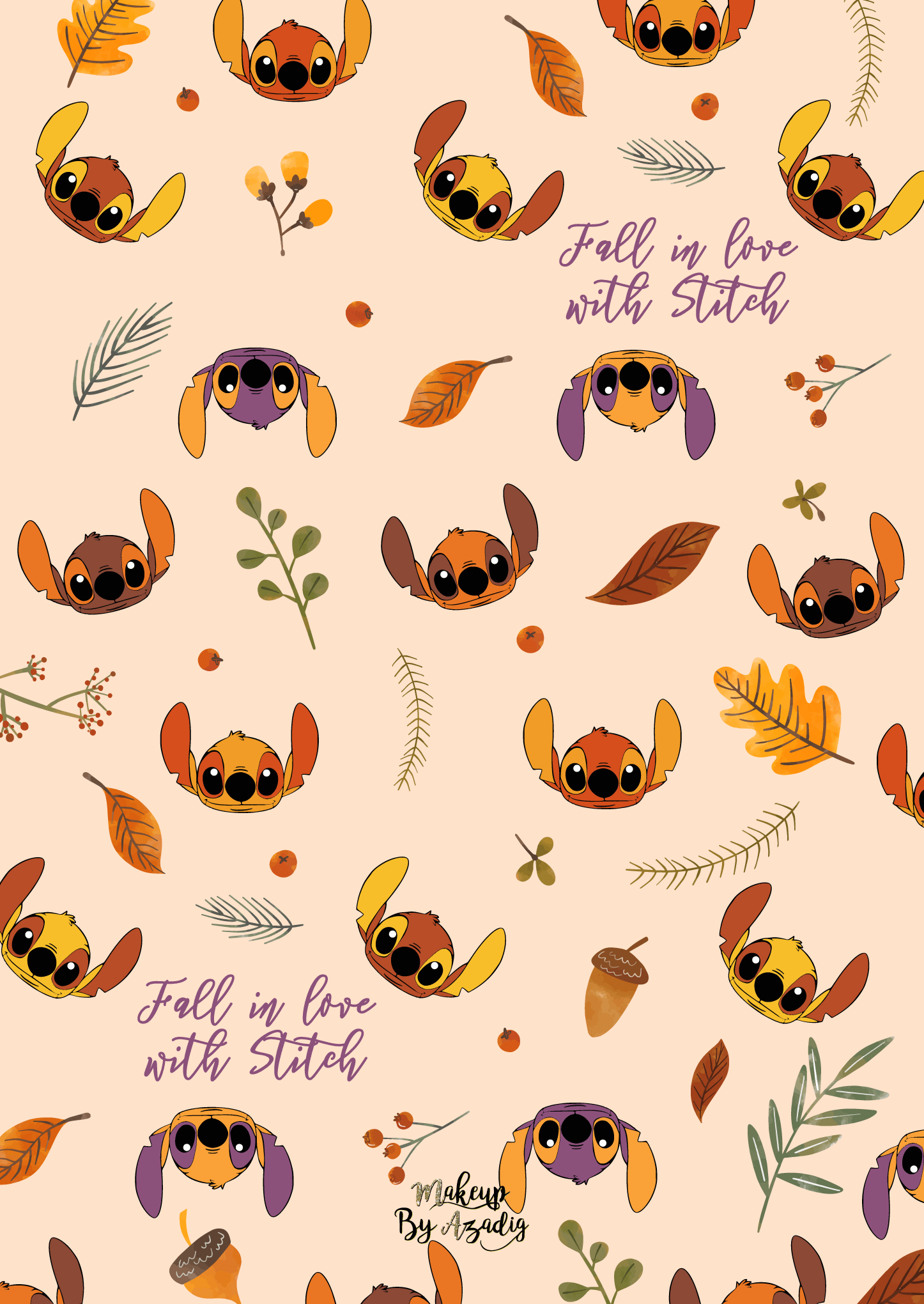 fond-decran-wallpaper-stitch-autumn-automne-fallinlove-disney-ipad-tablette-apple-makeupbyazadig-tendance