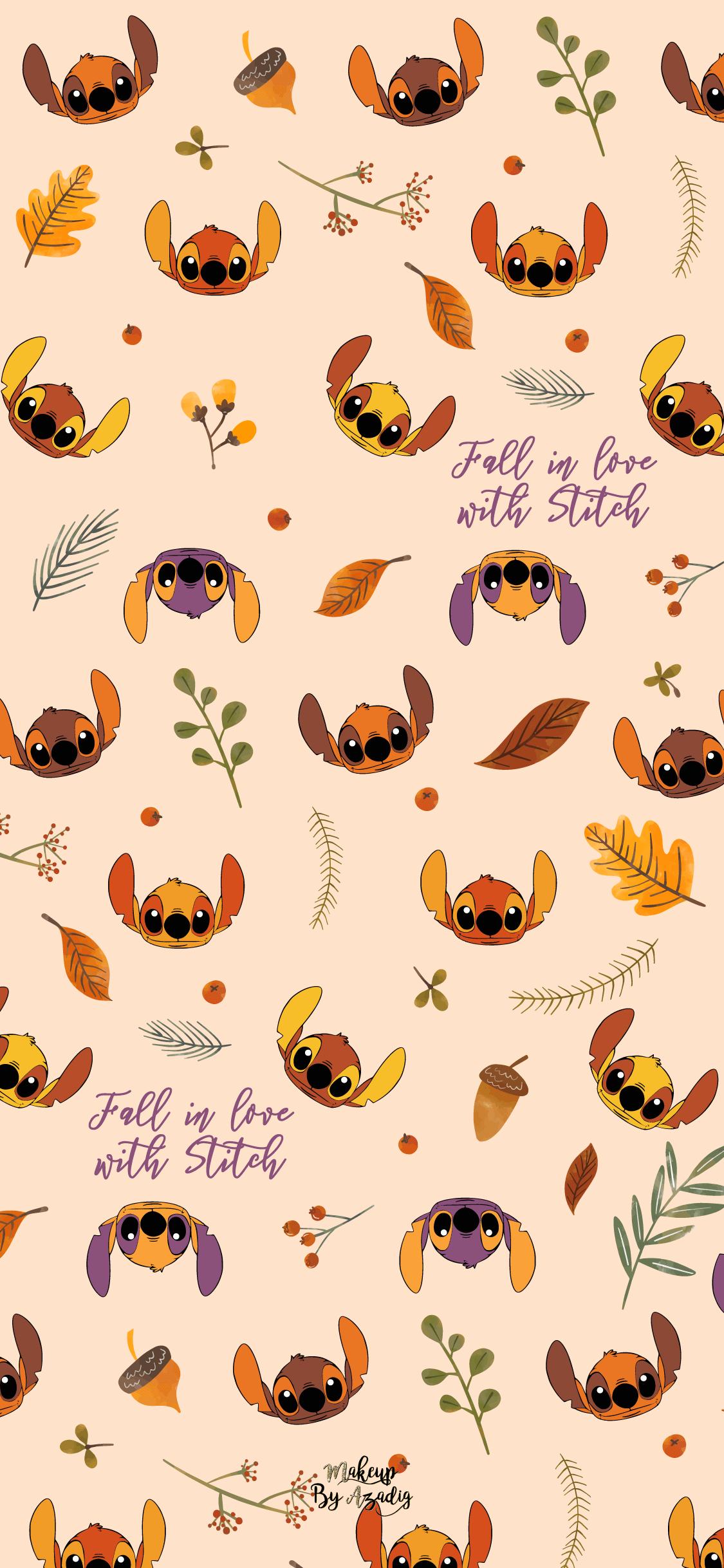 fond-decran-wallpaper-stitch-autumn-automne-fallinlove-disney-iphone-X-makeupbyazadig-tendance