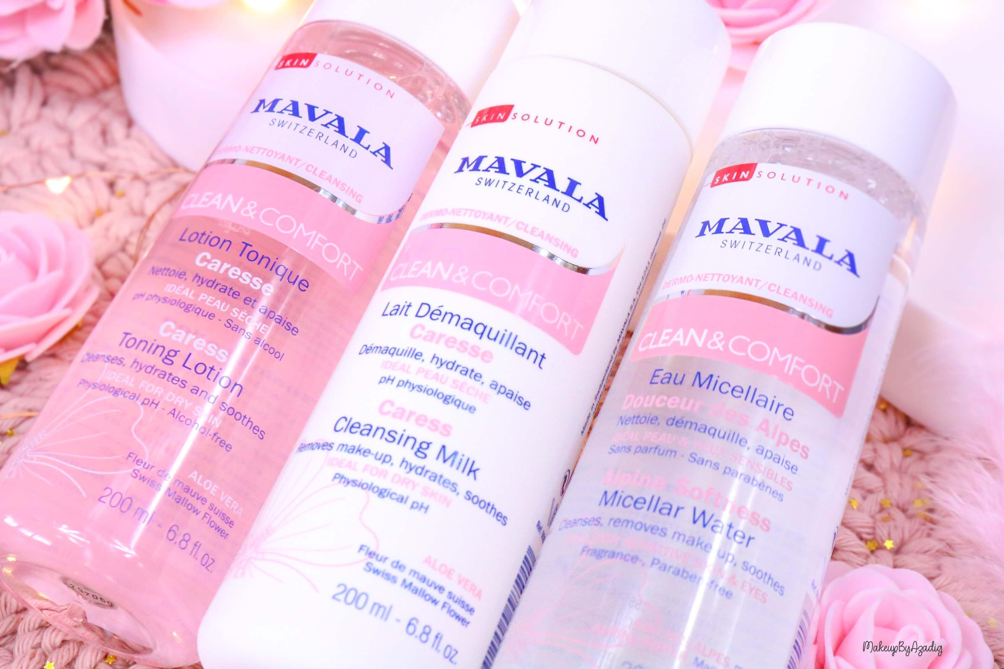 revue-routine-demaquillage-soin-confort-mavala-suisse-clean-lotion-tonique-lait-eau-micellaire-makeupbyazadig-cleansing