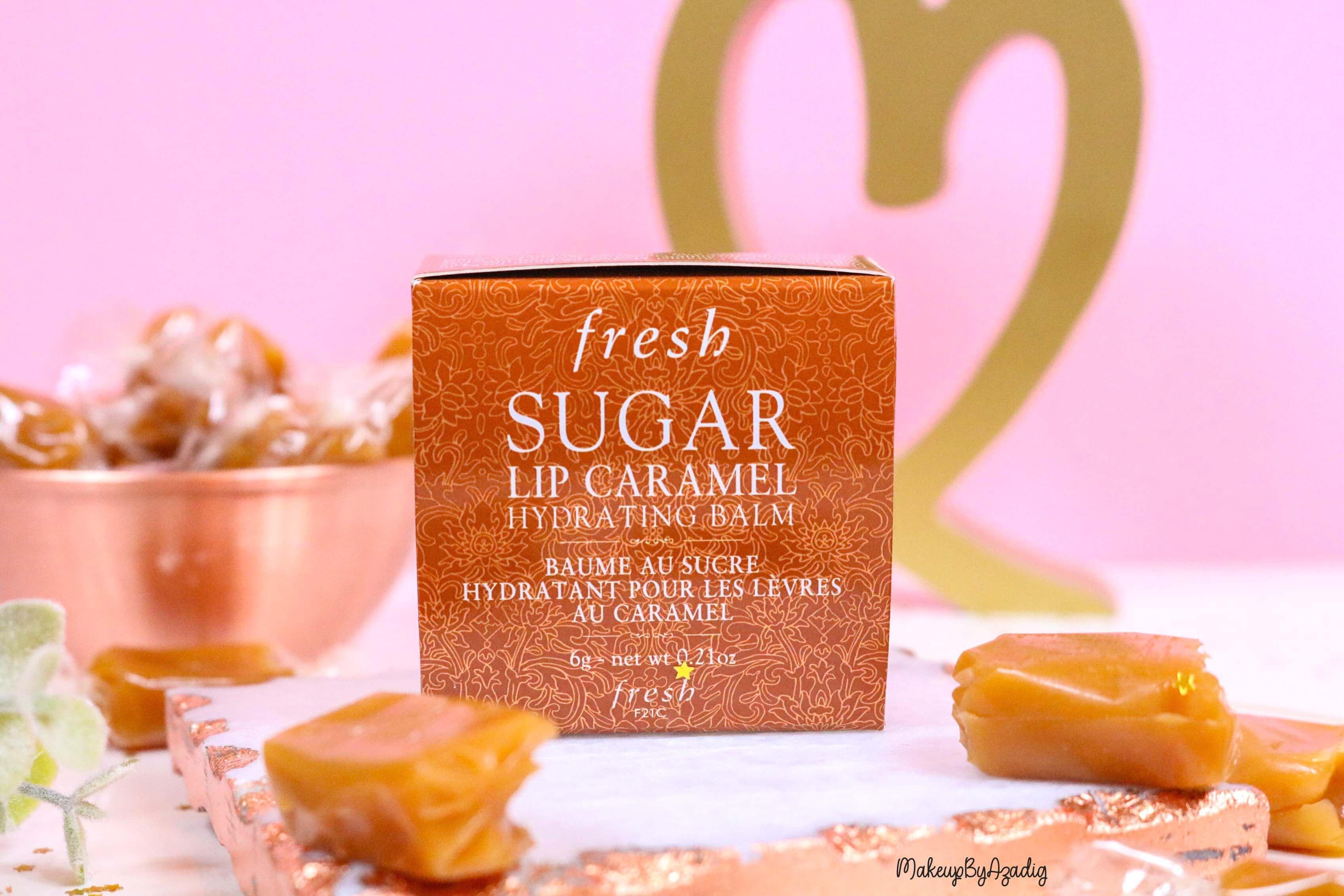 revue-baume-sucre-fresh-beauty-skincare-caramel-sugar-lip-caramel-sephora-makeupbyazadig-avis-prix-balm-packaging