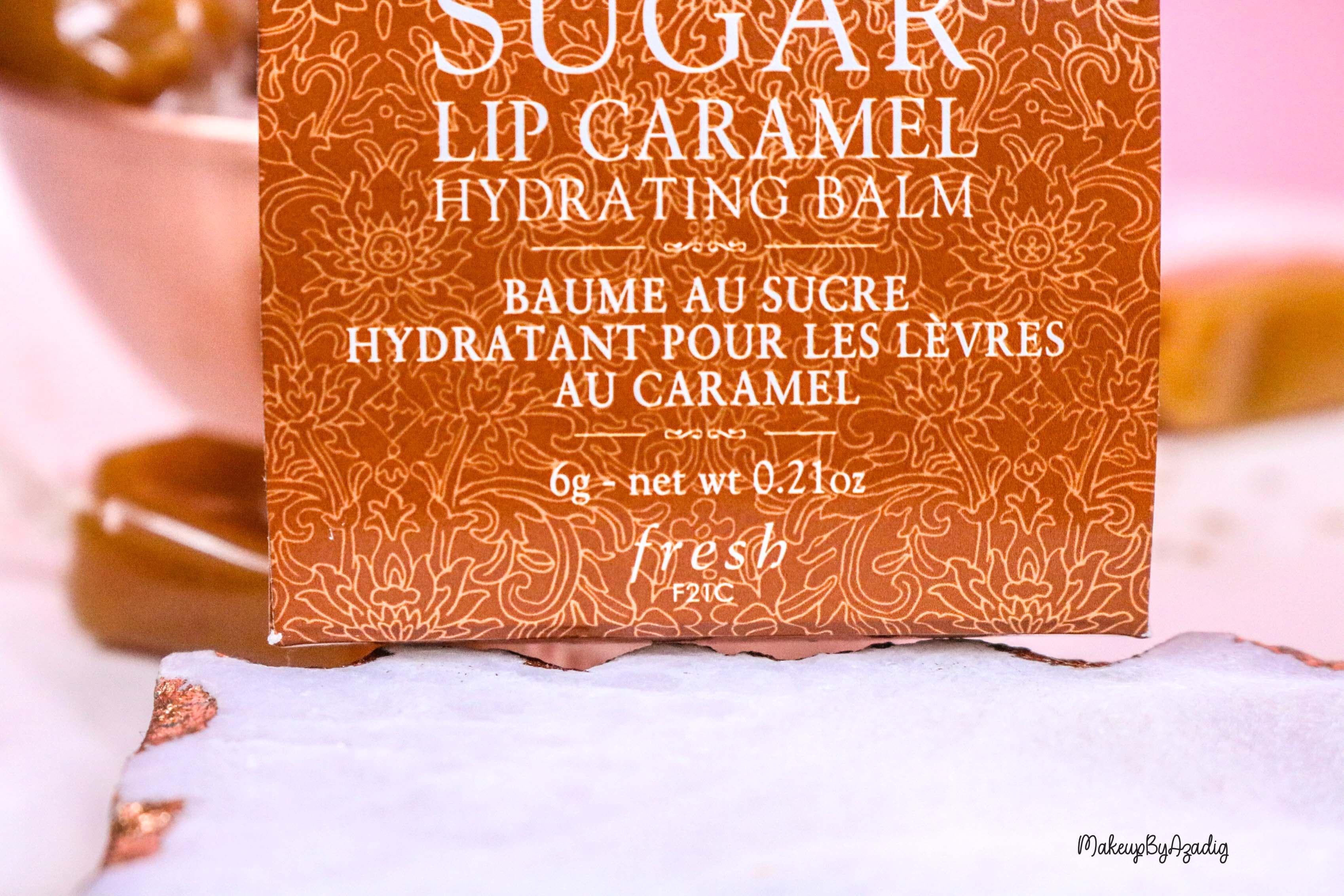 revue-baume-sucre-fresh-beauty-skincare-caramel-sugar-lip-caramel-sephora-makeupbyazadig-avis-prix-balm-poids