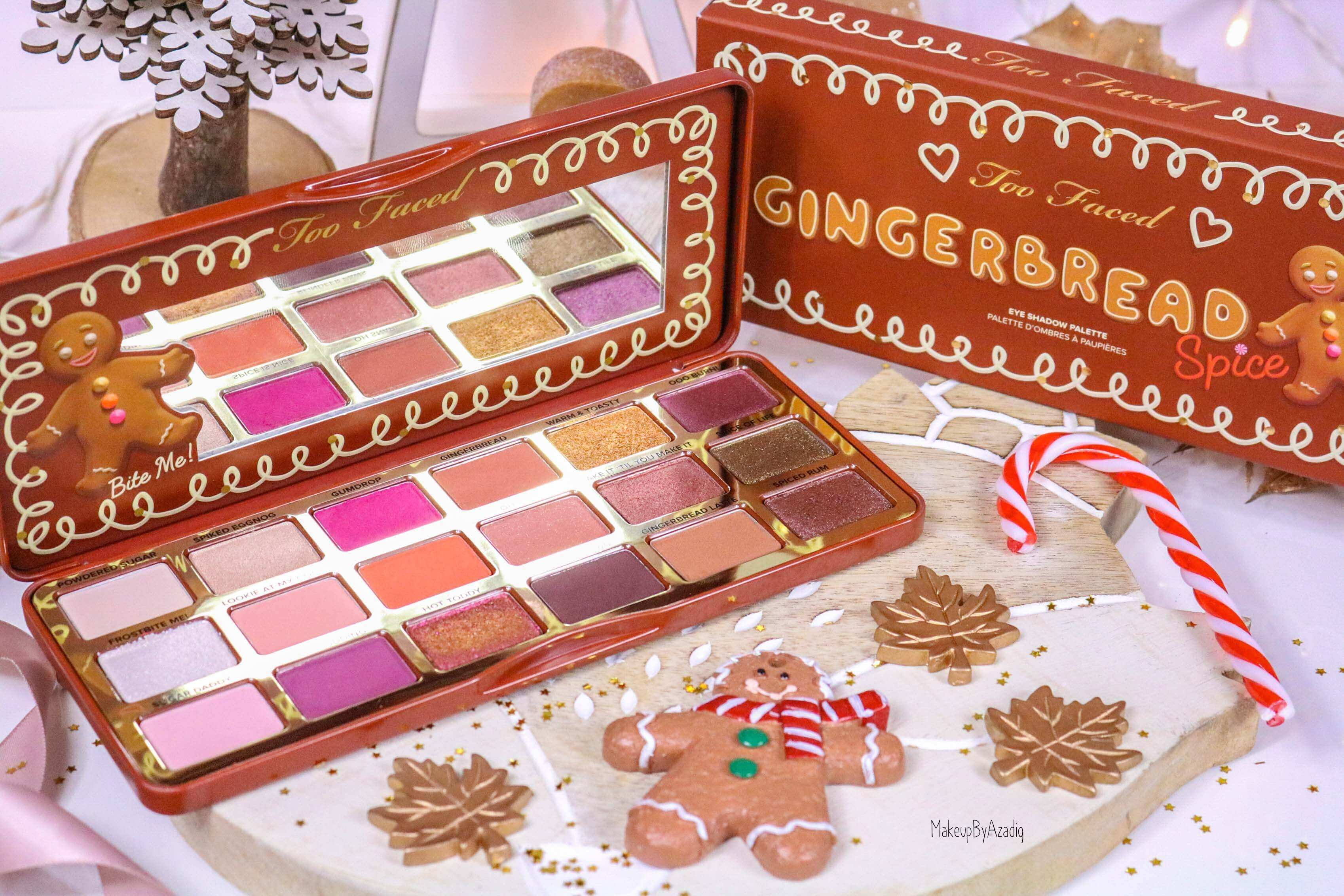 revue-palette-too-faced-gingerbread-spice-noel-france-makeupbyazadig-avis-prix-swatch-cute-tibiscuit