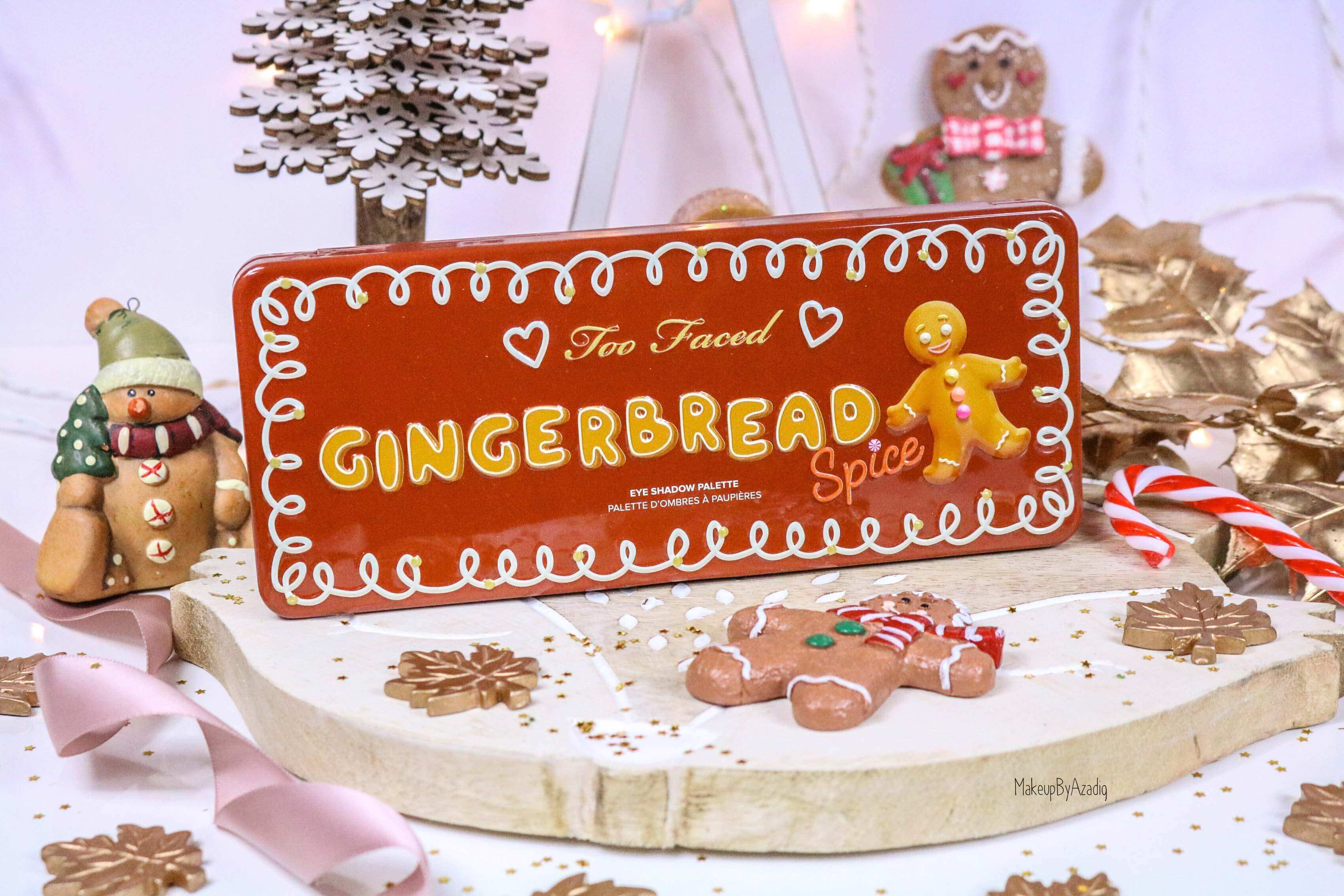 revue-palette-too-faced-gingerbread-spice-noel-france-makeupbyazadig-avis-prix-swatch-cute-wishlist