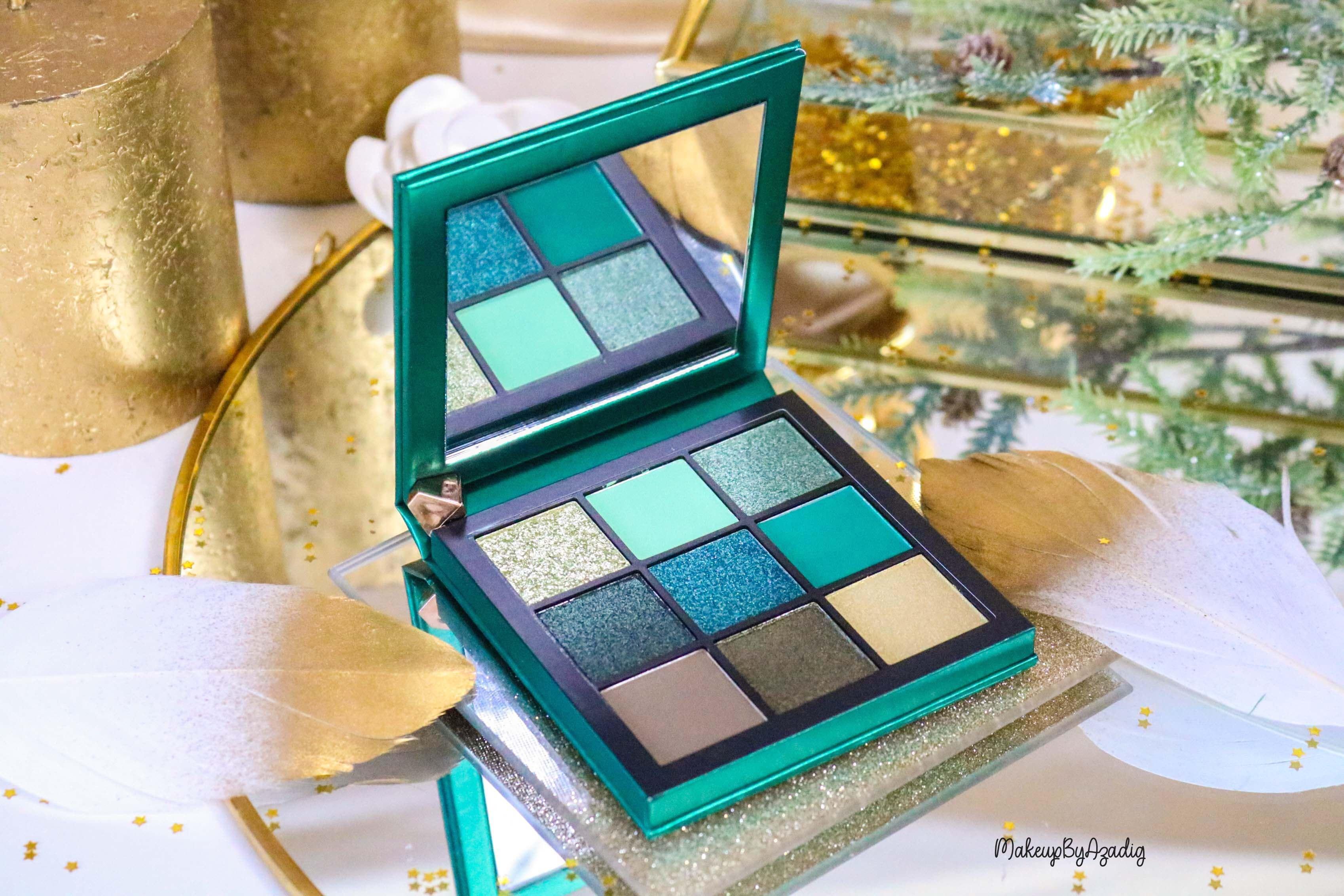 revue-review-palette-emerald-obsessions-huda-beauty-topaz-sapphire-avis-prix-swatch-makeupbyazadig-meilleure-miniature