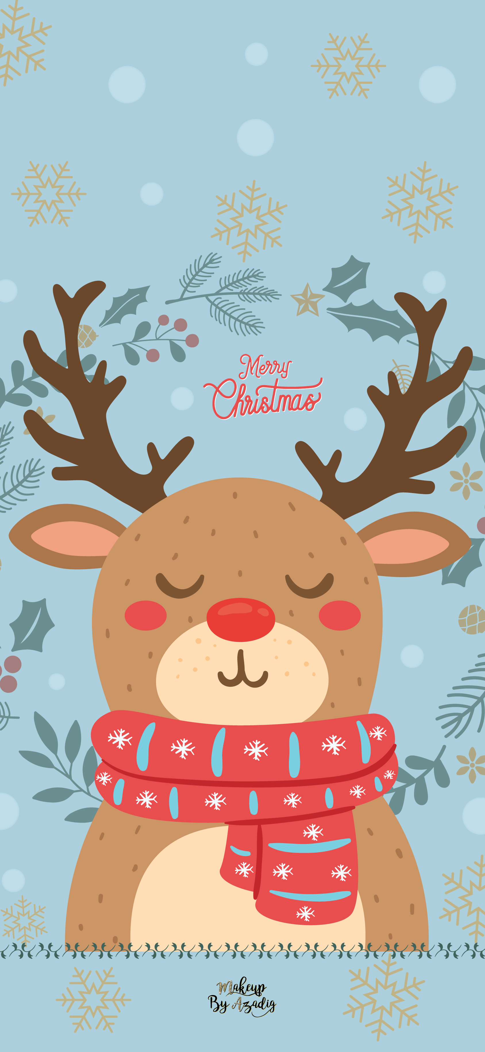 fond-decran-wallpaper-noel-renne-rudolph-disney-iphone-X-makeupbyazadig-tendance