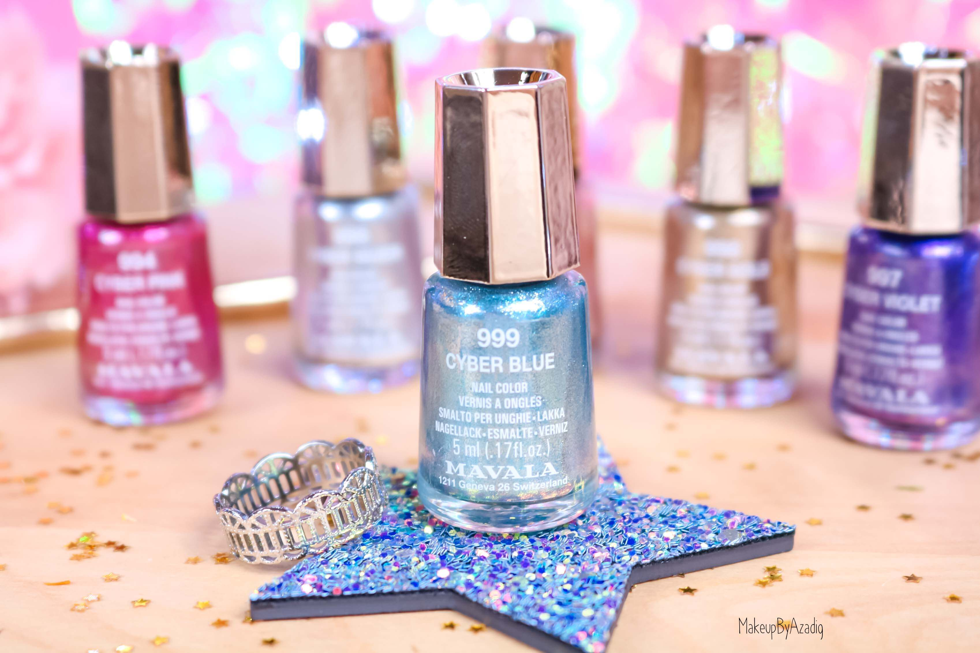 revue-collection-vernis-nails-cyber-chic-fetes-noel-metallique-gold-silver-makeupbyazadig-swatch-avis-prix-blue