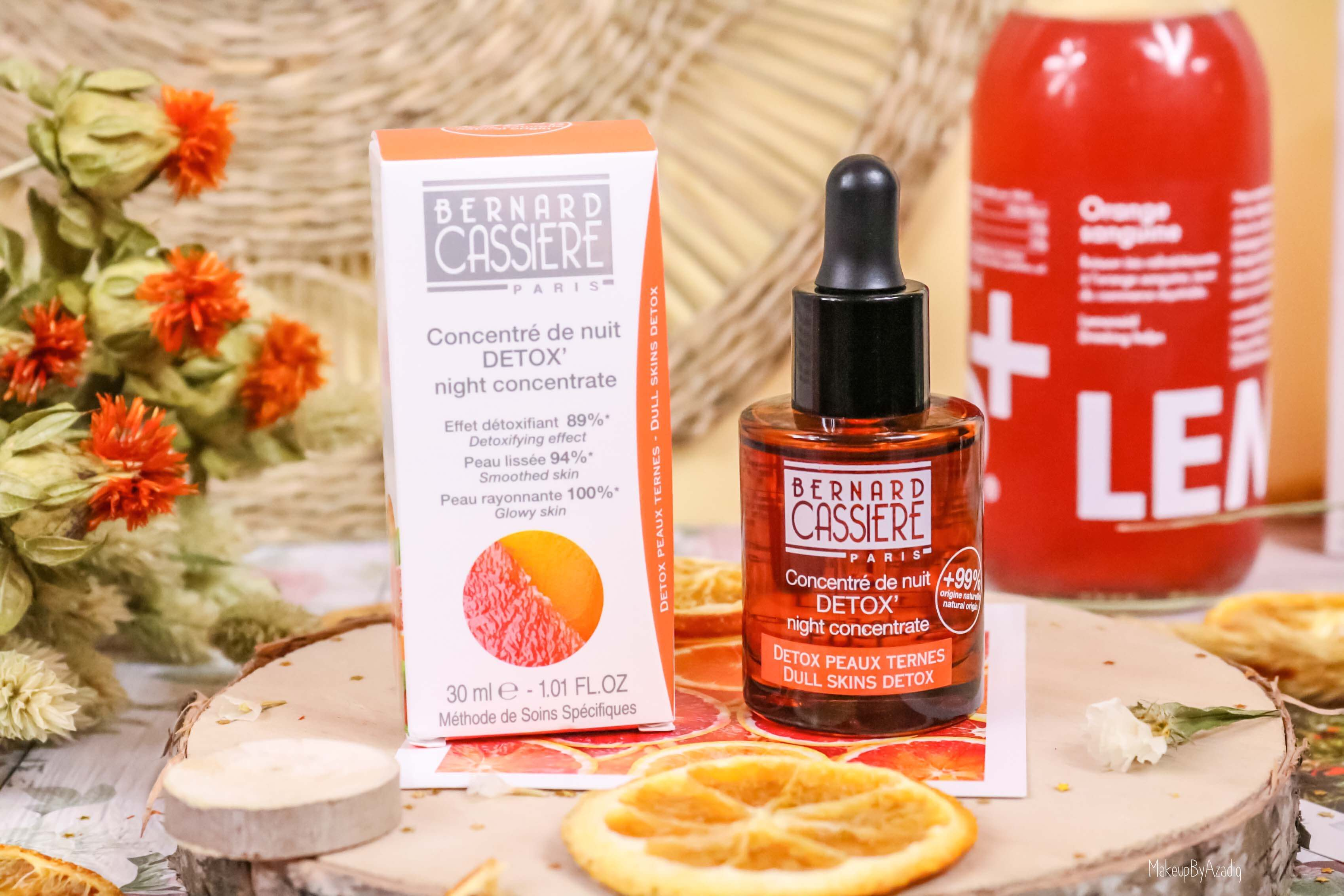 revue-produits-bernard-cassiere-bio-detox-orange-sanguine-masque-paris-institut-concentre-nuit-avis-prix-soin-makeupbyazadig-peaux-ternes