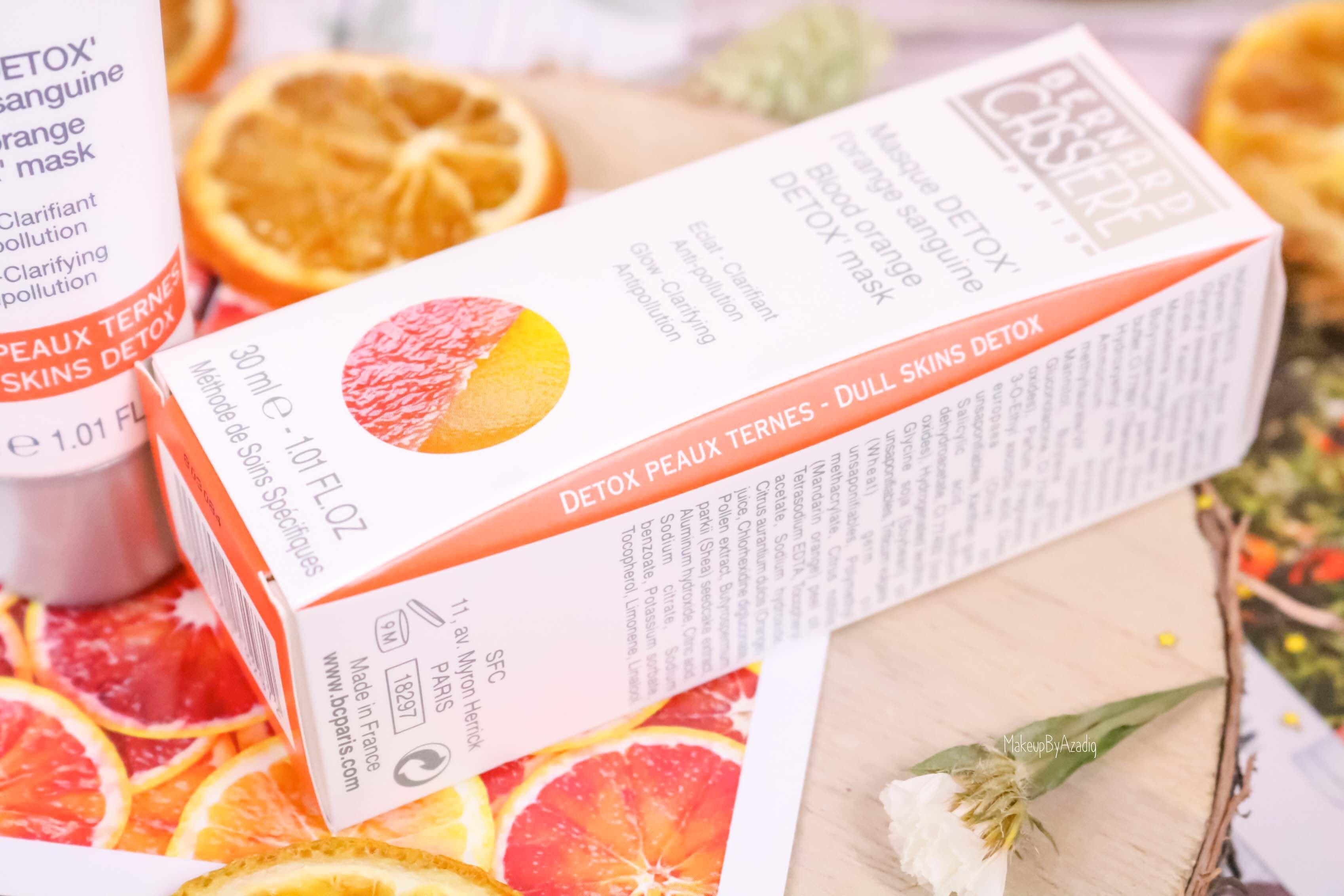 revue-produits-bernard-cassiere-bio-detox-orange-sanguine-masque-paris-institut-concentre-nuit-avis-prix-soin-makeupbyazadig-skin