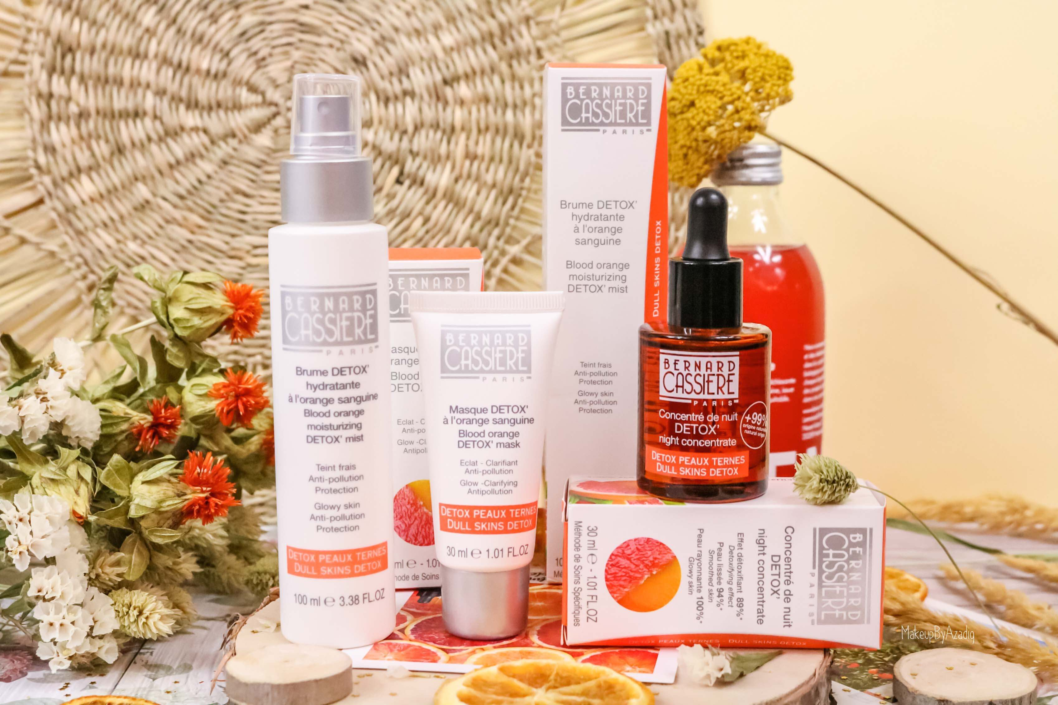 revue-produits-bernard-cassiere-bio-detox-orange-sanguine-masque-paris-institut-concentre-nuit-avis-prix-soin-makeupbyazadig-soin-naturel