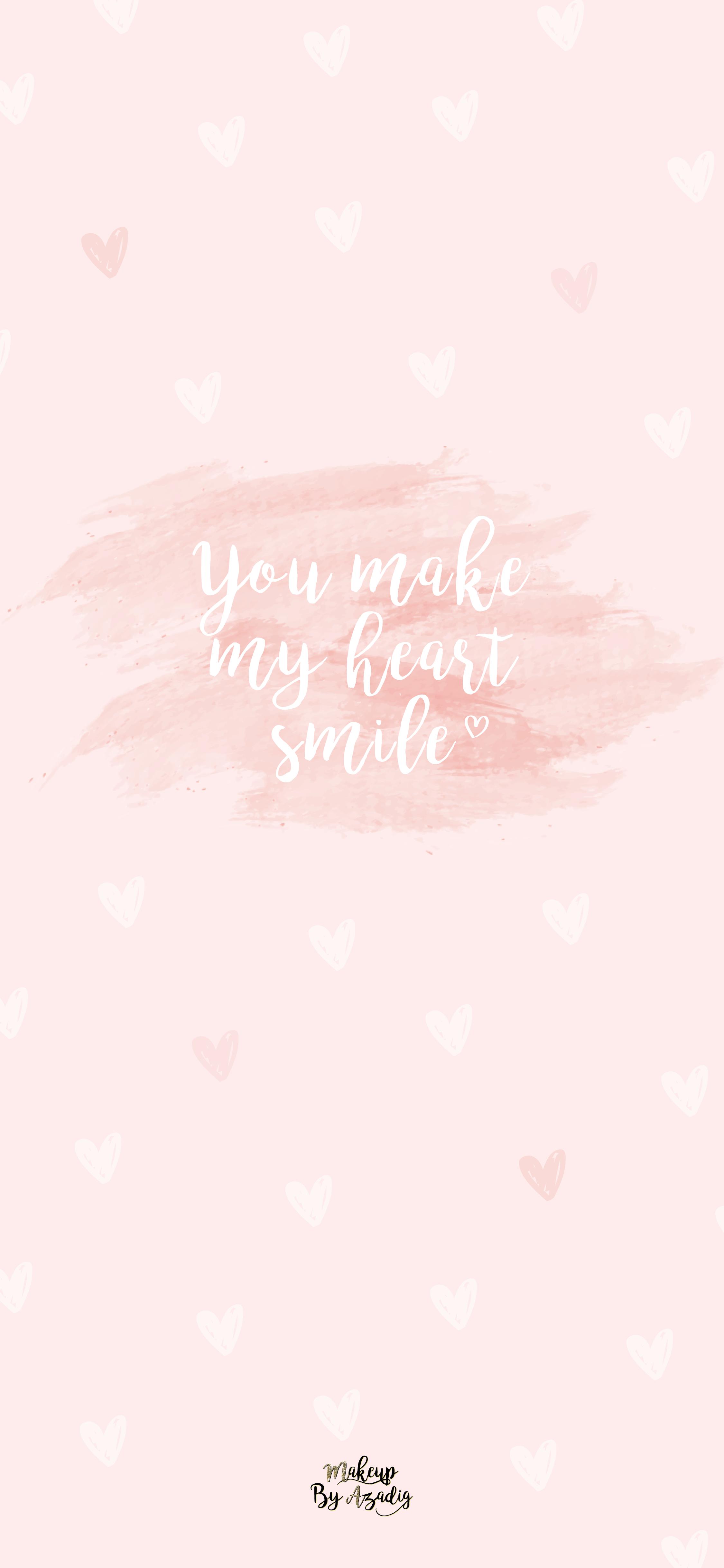 fond-decran-wallpaper-coeur-love-amour-citation-you-make-my-heart-smile-rose-girly-iphone-X-makeupbyazadig-tendance