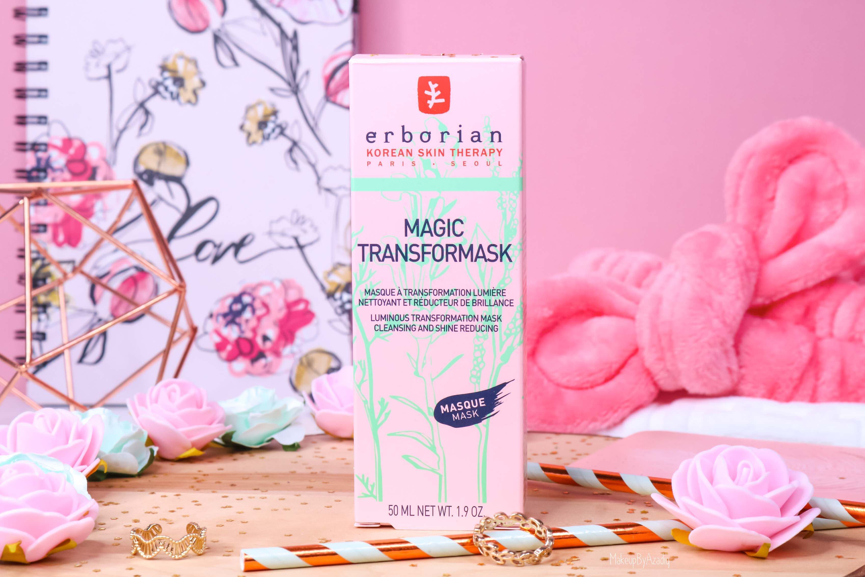 revue-magic-transformask-erborian-masque-visage-rose-sephora-avis-prix-makeupbyazadig-korean-packaging