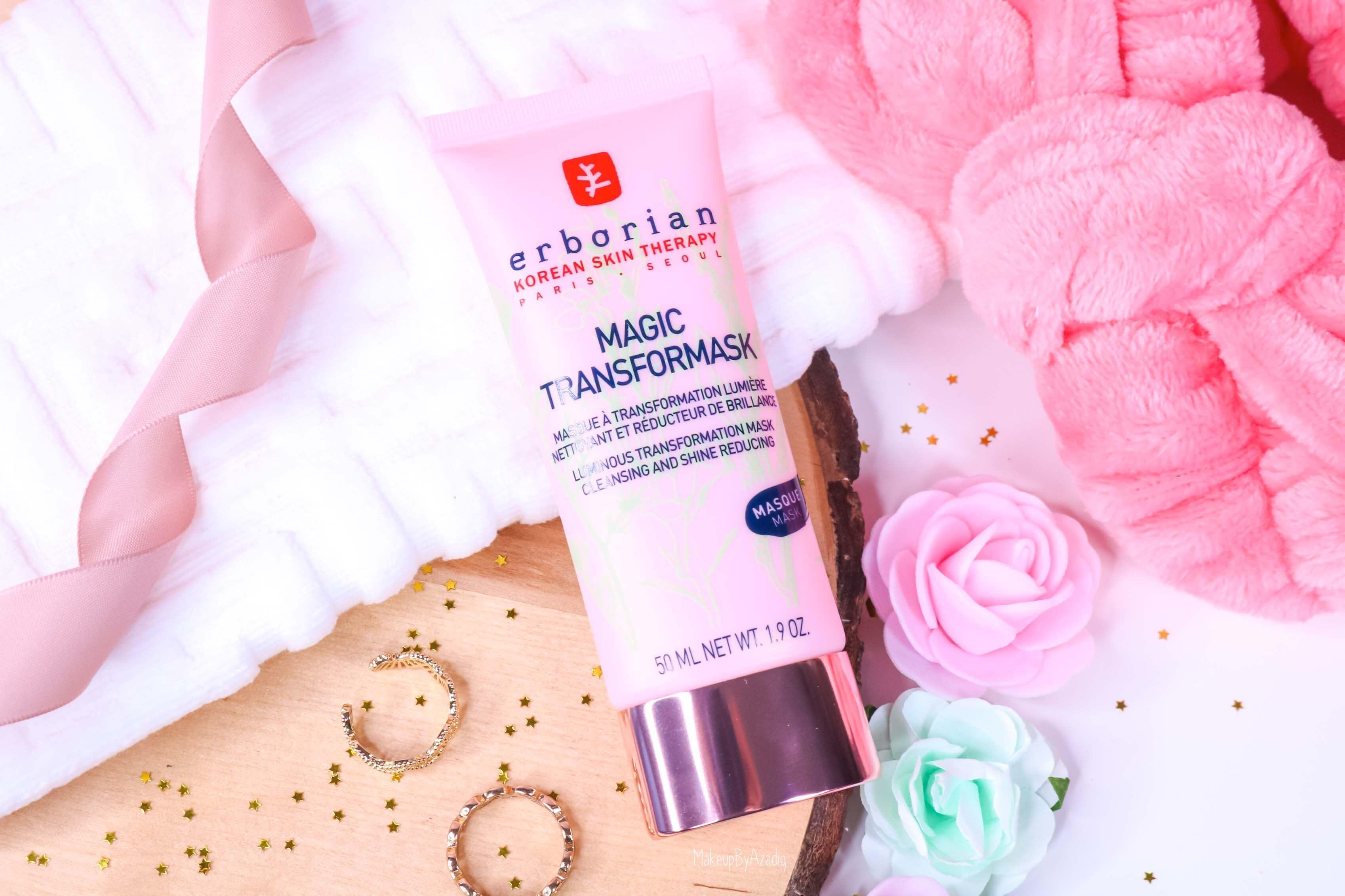 revue-magic-transformask-erborian-masque-visage-rose-sephora-avis-prix-makeupbyazadig-korean-skin