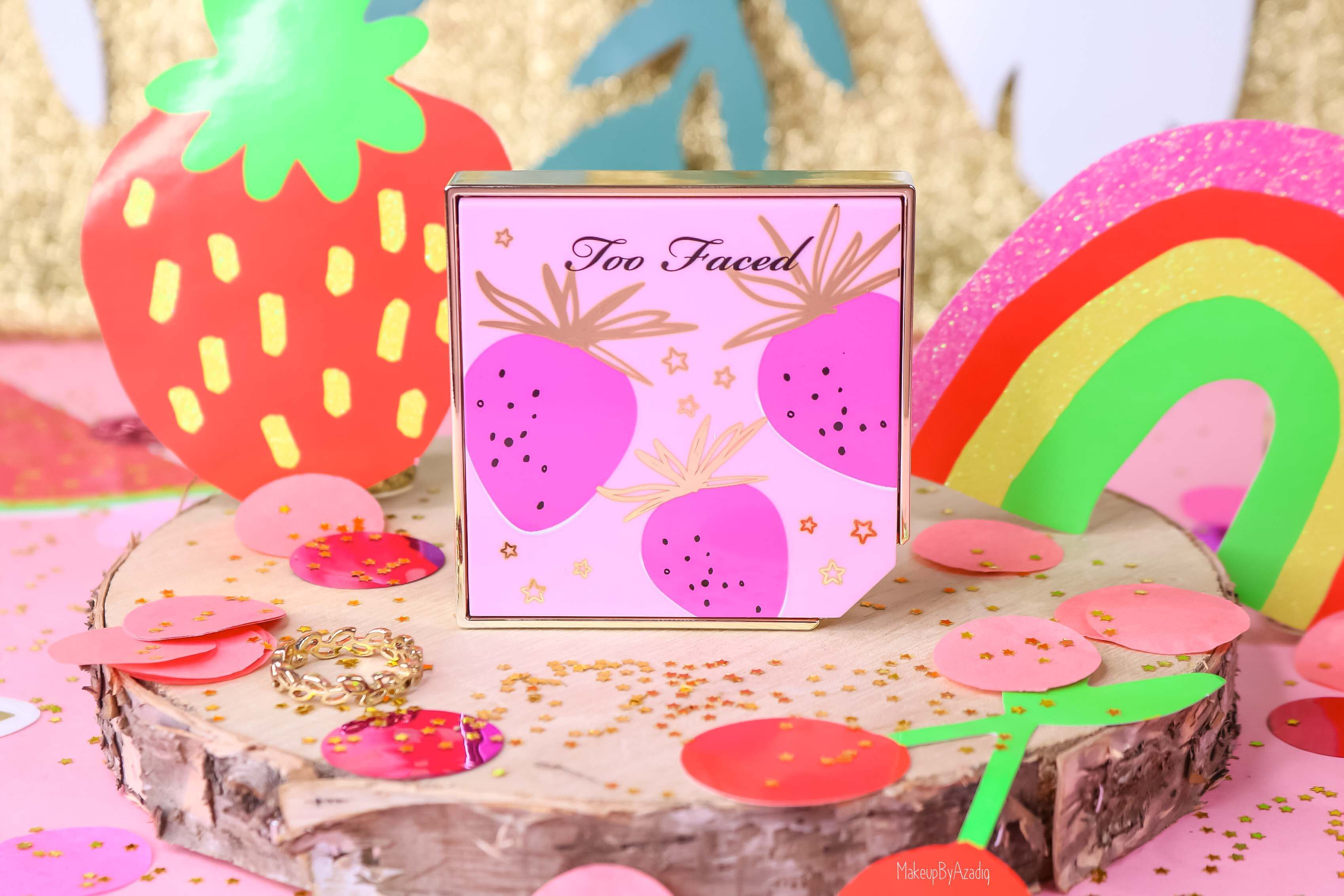 revue-collection-tutti-frutti-too-faced-blush-fruit-cocktail-strobeberry-sephora-france-makeupbyazadig-swatch-avis-prix-rose-summer