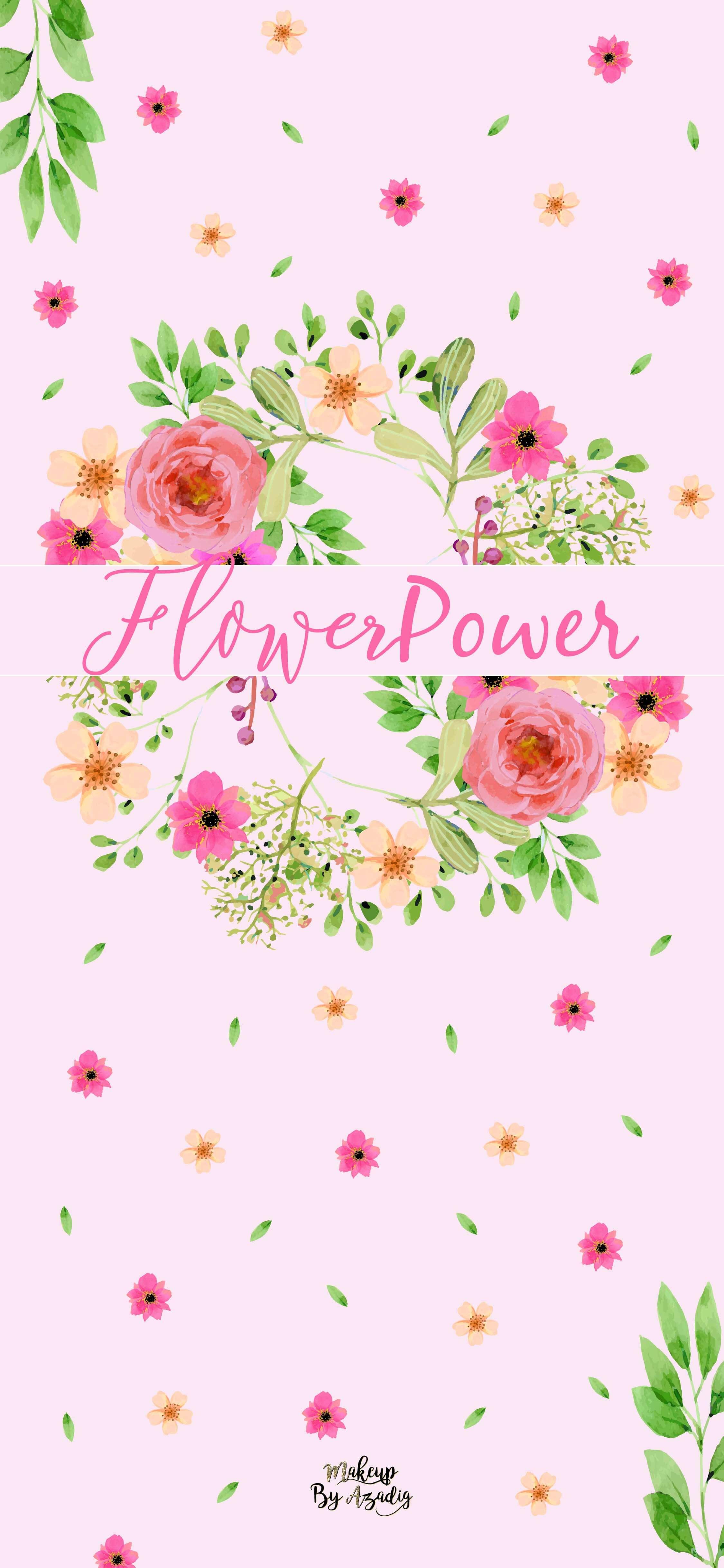 fond-decran-wallpaper-printemps-fleurs-flower-power-couronne-rose-girly-iphone-X-makeupbyazadig-tendance