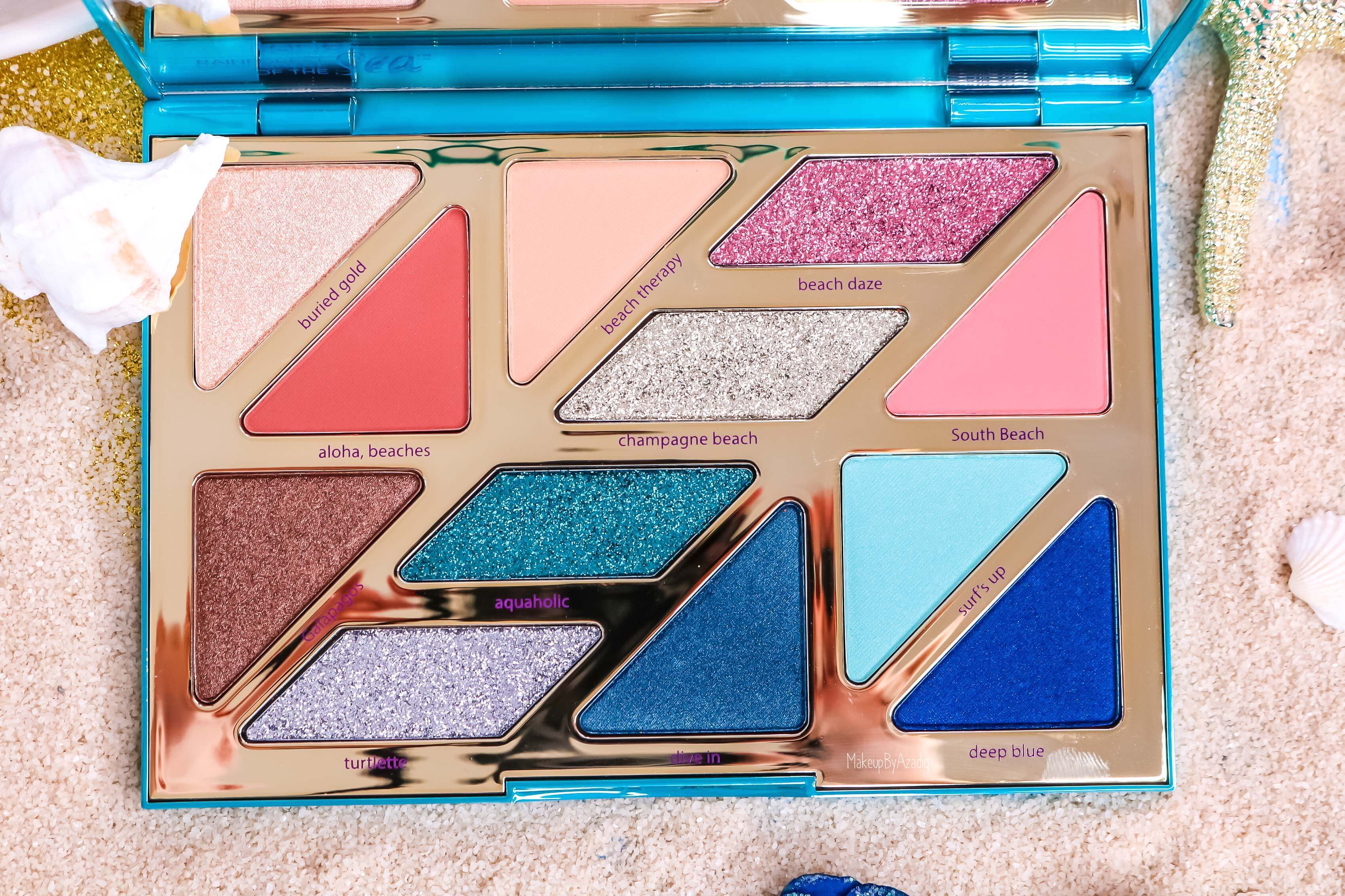 revue-palette-tarte-cosmetics-france-sephora-makeupbyazadig-swatch-prix-avis-rainforest-of-the-sea-couleurs