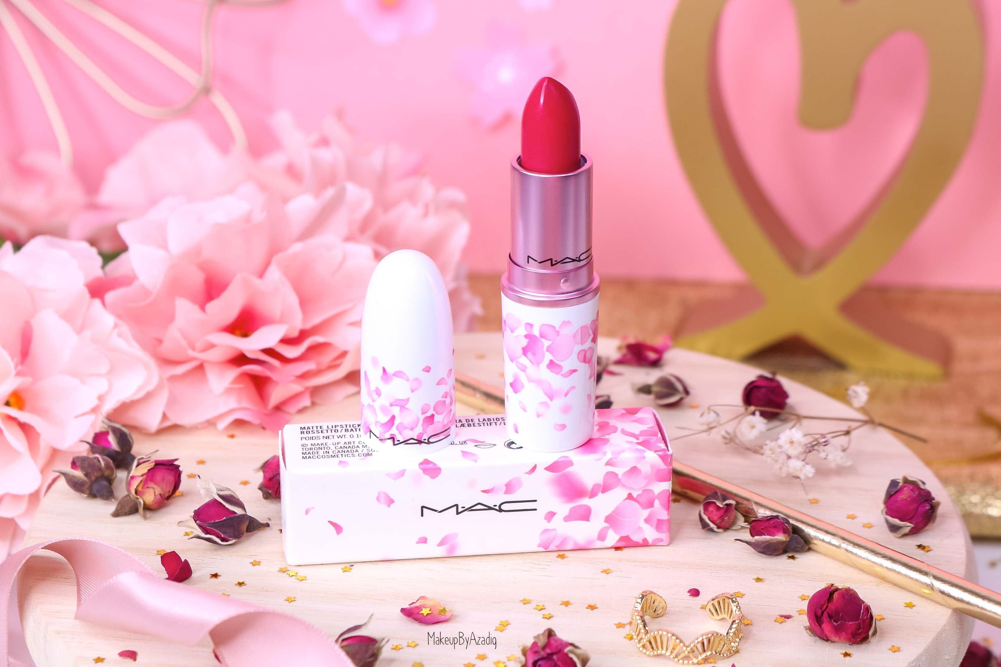 revue-rouge-a-levres-mac-cosmetics-collection-boom-boom-bloom-printemps-makeupbyazadig-avis-swatch-prix-france-framboise