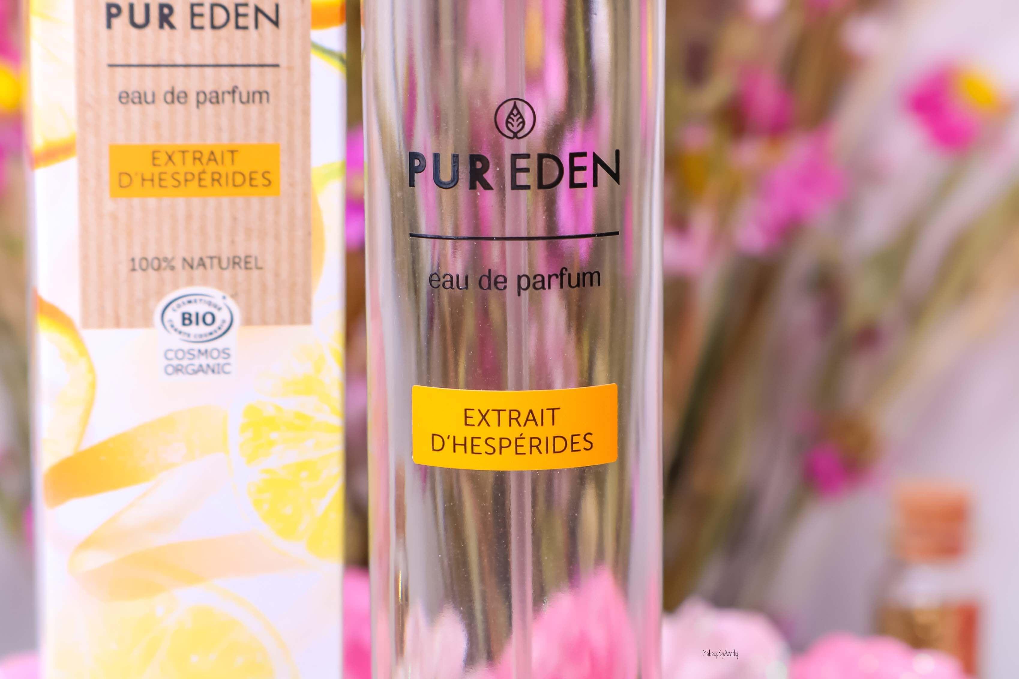 revue-eau-de-parfum-bio-vegan-pur-eden-fleur-boreale-extraits-hesperides-eau-dorient-makeupbyazadig-avis-prix-tenue-orange