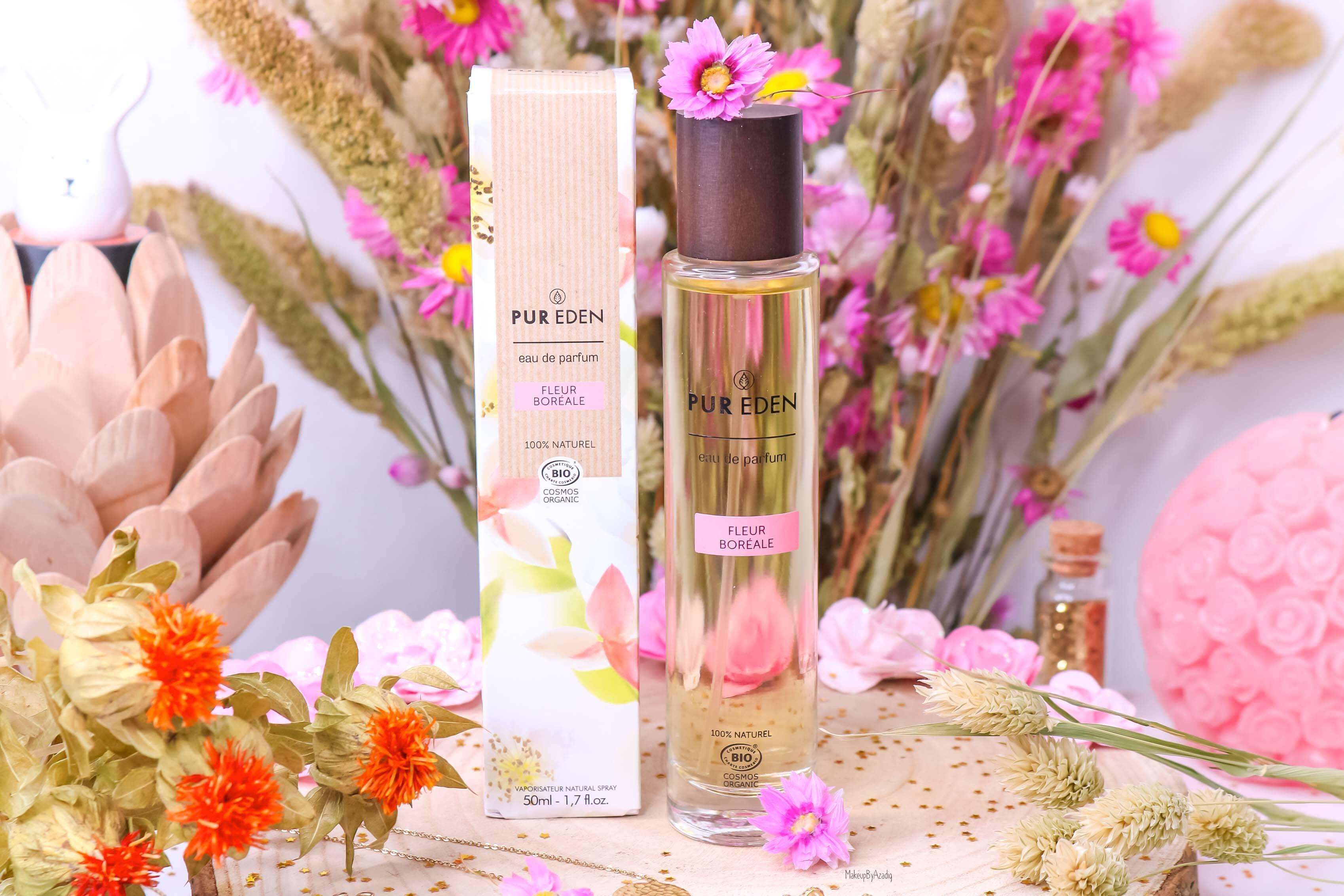 revue-eau-de-parfum-bio-vegan-pur-eden-fleur-boreale-extraits-hesperides-eau-dorient-makeupbyazadig-avis-prix-tenue-rose