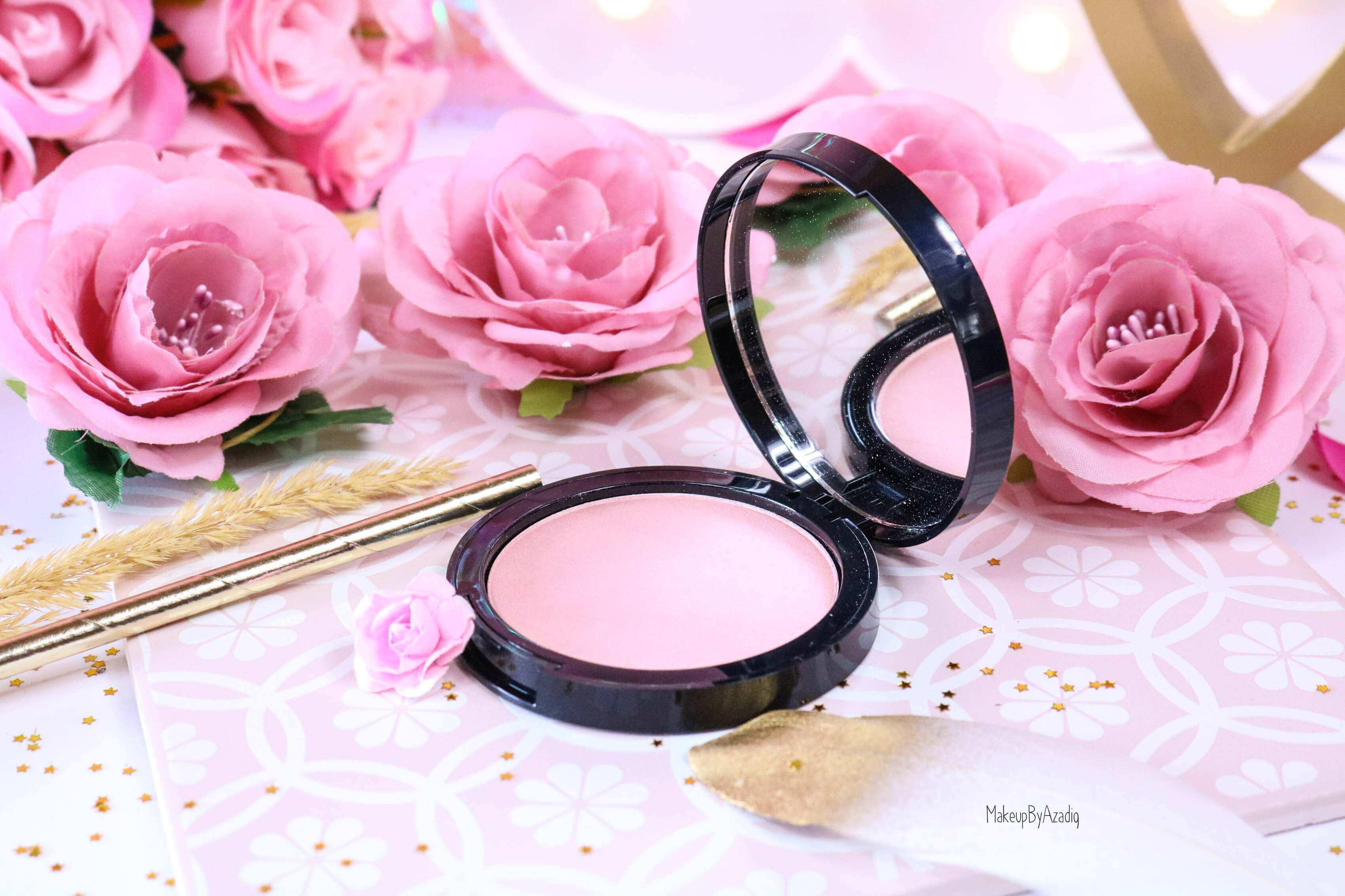 revue-highlighter-poudre-illuminatrice-golden-hour-dusk-sephora-collection-rosegold-avis-prix-swatch-makeupbyazadig-pink