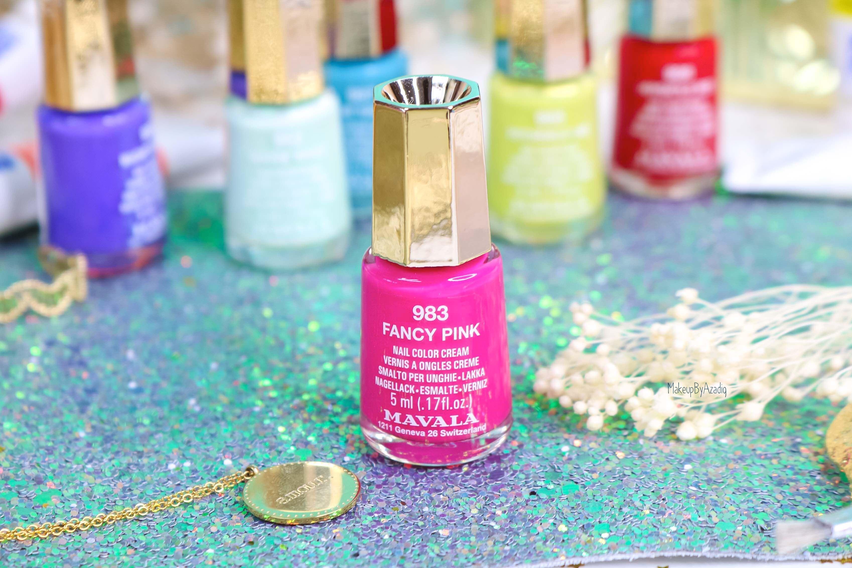 revue-collection-vernis-mavala-nails-dash-splash-ete-2019-bleu-orange-makeupbyazadig-swatch-avis-prix-fancy-pink