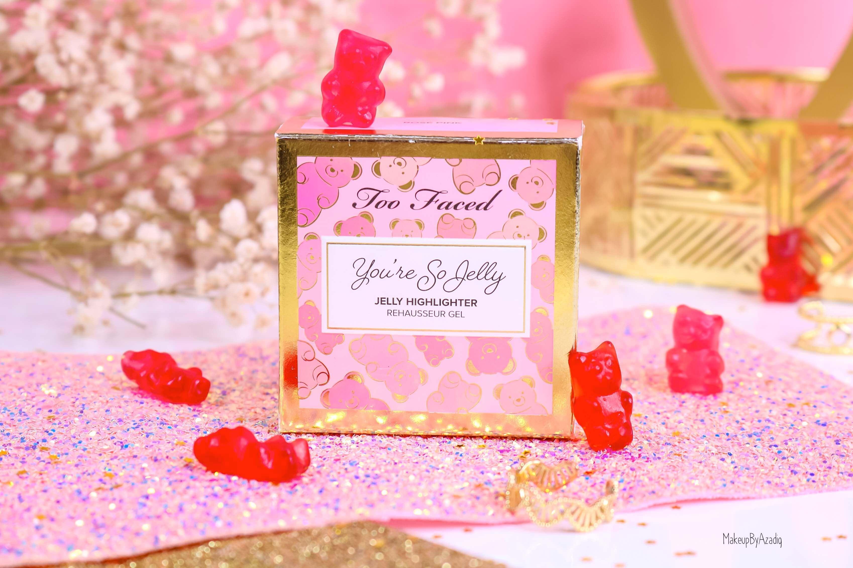 revue-highlighter-jelly-gel-rose-pink-too-faced-texture-cute-avis-prix-swatch-makeupbyazadig-sephora-france-incroyable