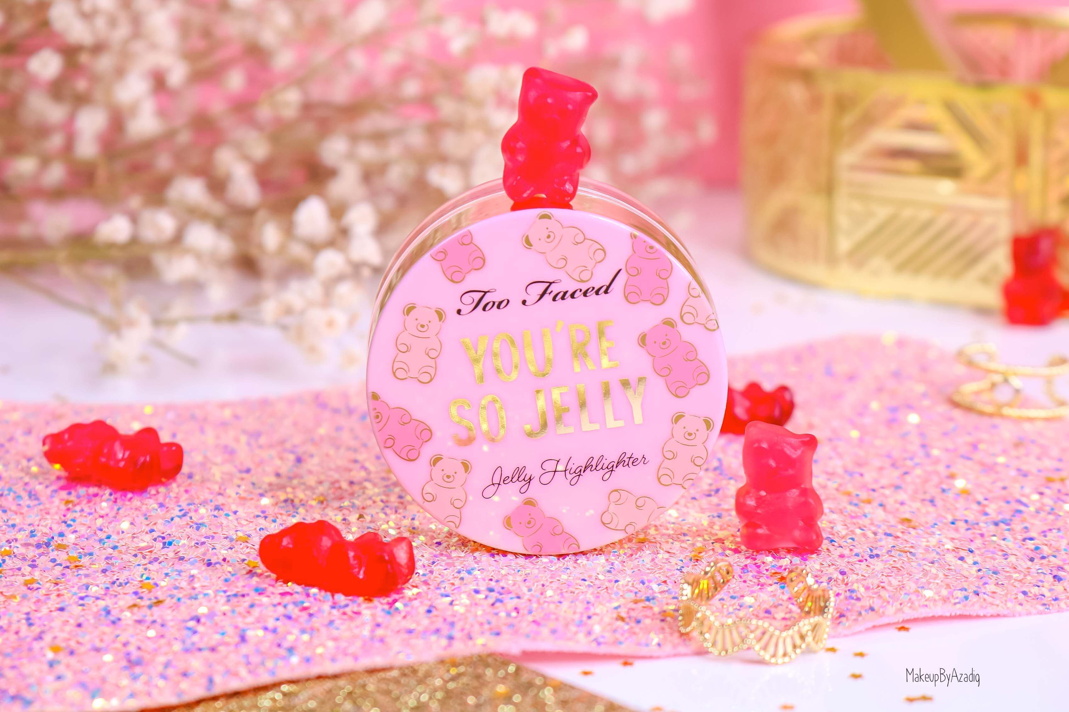 revue-highlighter-jelly-gel-rose-pink-too-faced-texture-cute-avis-prix-swatch-makeupbyazadig-sephora-france-packaging