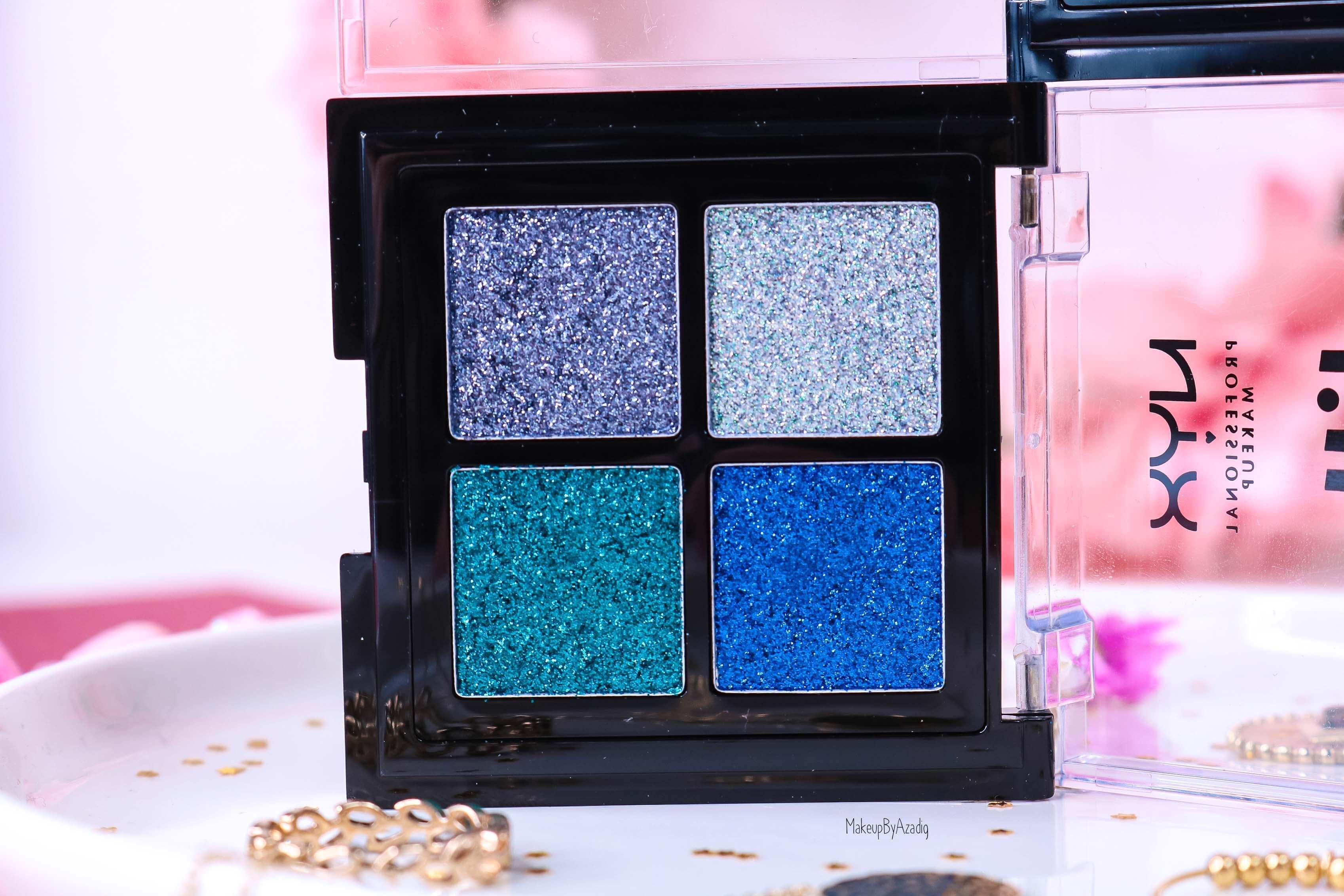 revue-palette-glitter-goals-nyx-professional-makeup-festival-coachella-avis-prix-paillette-makeupbyazadig-galactica-glacier-bleu