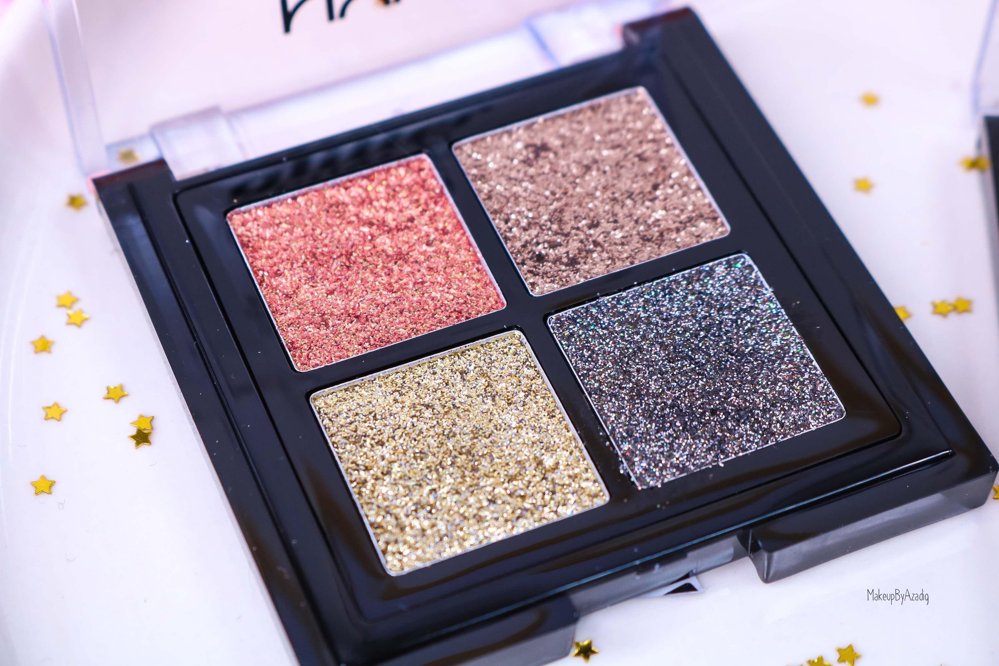 revue-palette-glitter-goals-nyx-professional-makeup-festival-coachella-avis-prix-paillette-makeupbyazadig-galactica-glacier-or
