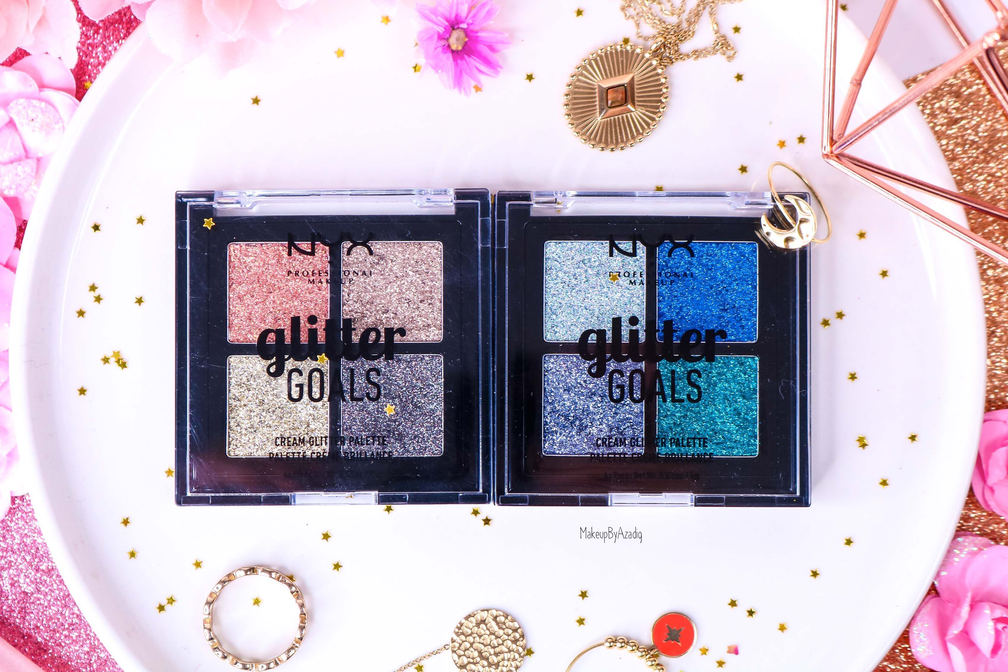 revue-palette-glitter-goals-nyx-professional-makeup-festival-coachella-avis-prix-paillette-makeupbyazadig-galactica-glacier-zoom