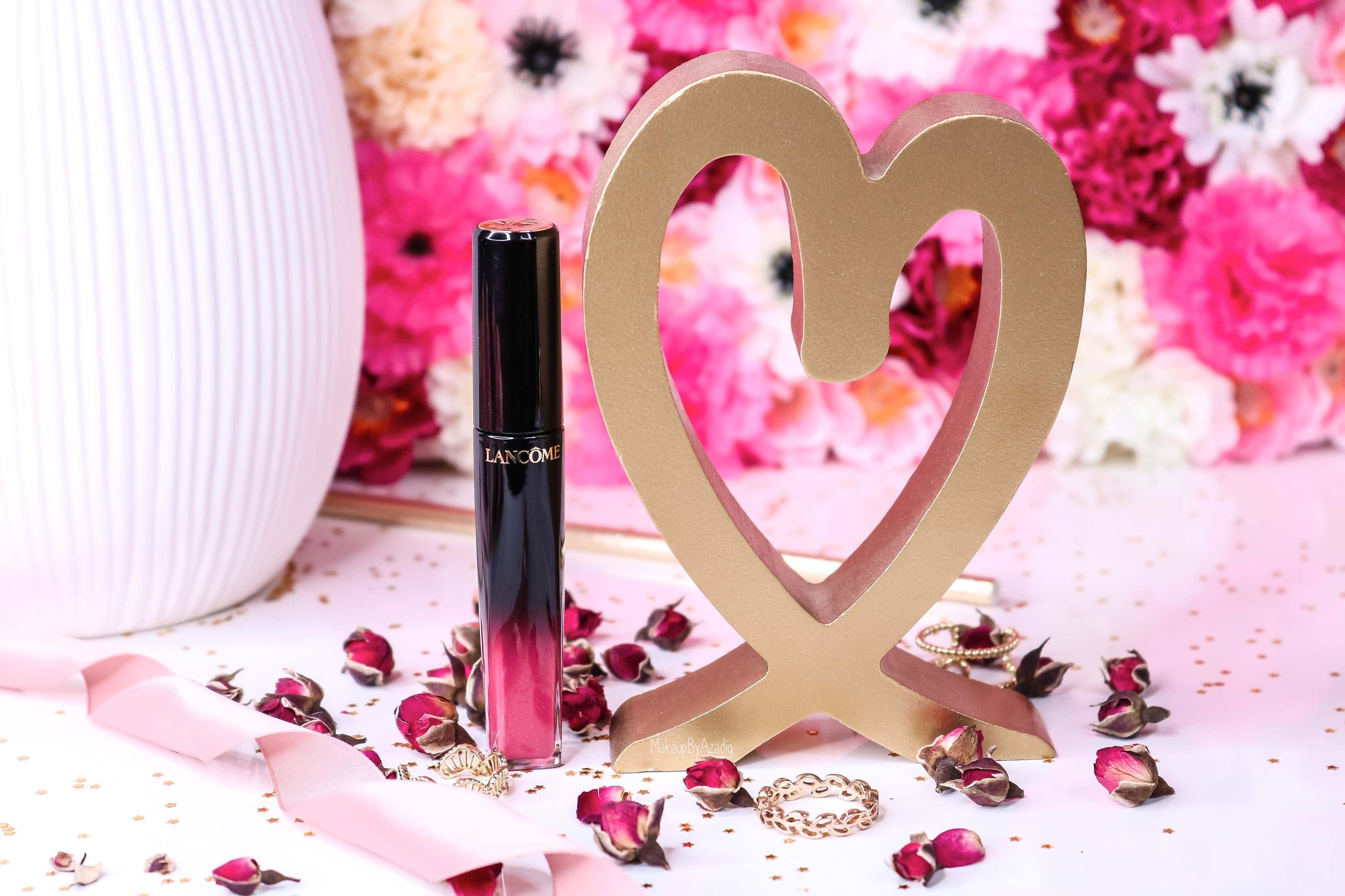 revue-lacque-a-levres-absolu-lacquer-lancome-shine-manifesto-323-sephora-avis-prix-tenue-makeupbyazadig-swatch-rose