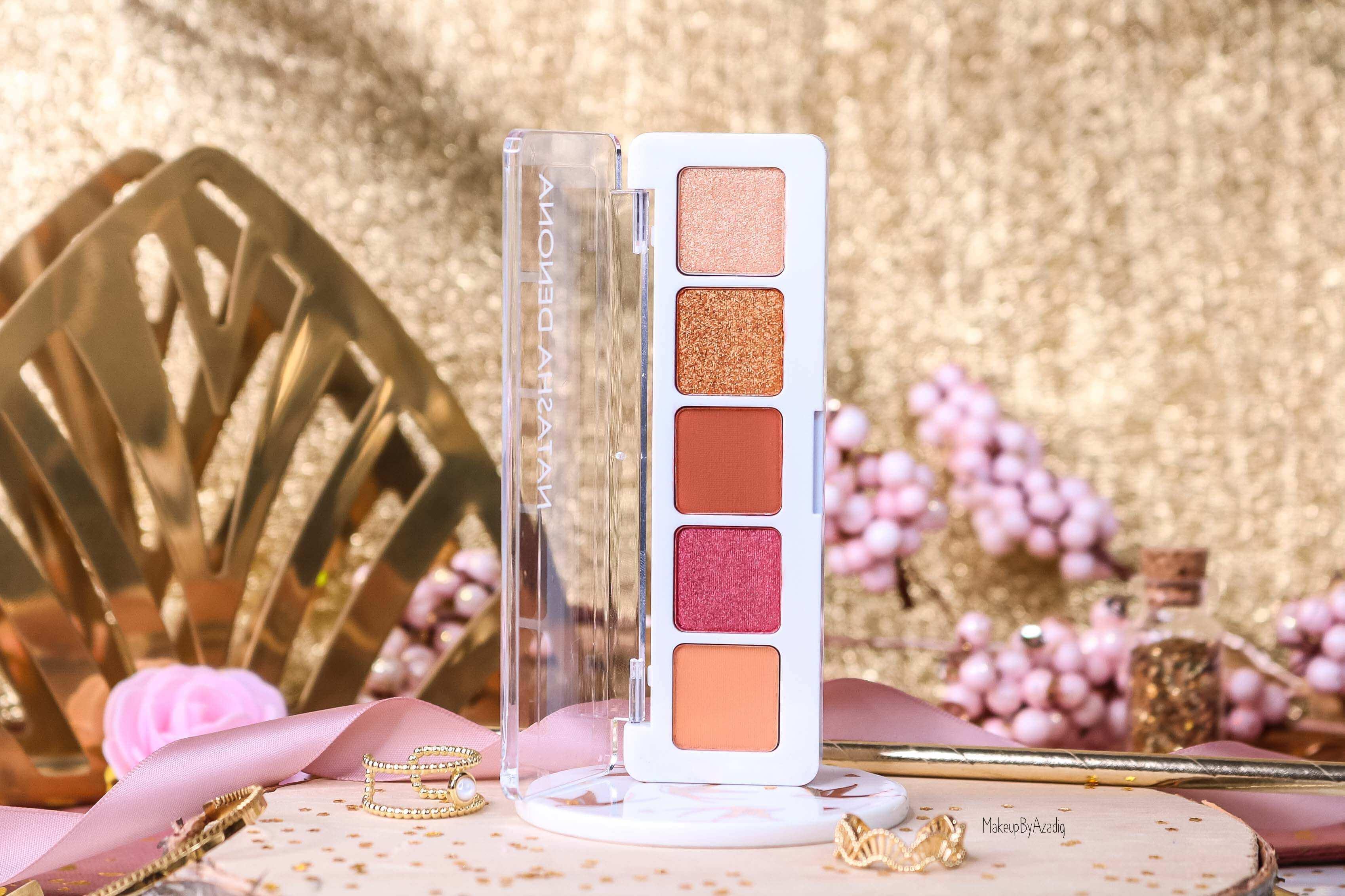 revue-palette-mini-sunset-natasha-denona-sephora-france-avis-prix-swatch-gold-champagne-burgundy-makeupbyazadig-eyeshadow-dore