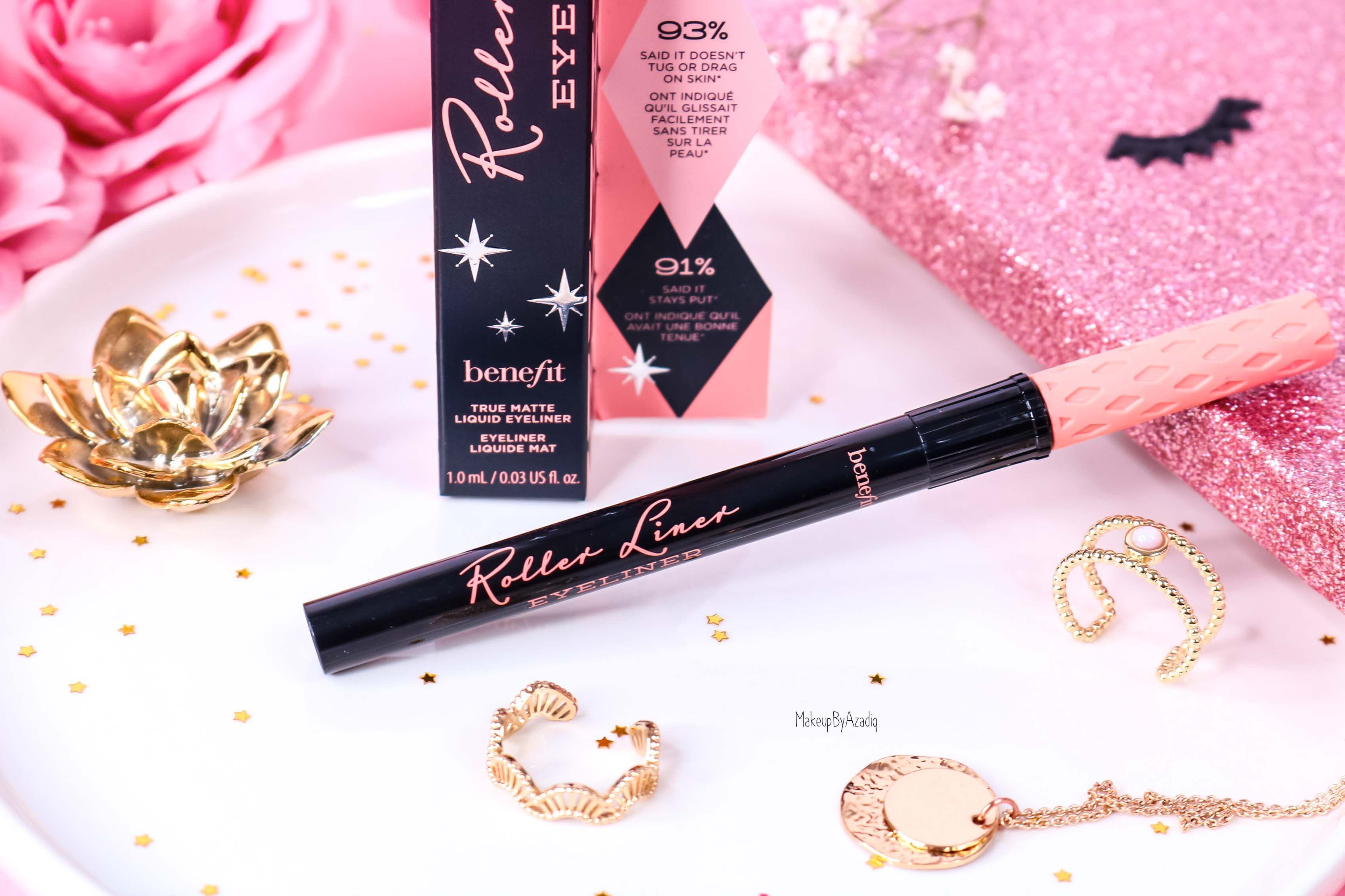 revue-review-eyeliner-roller-liner-benefit-noir-mat-makeupbyazadig-avis-prix-swatch-sephora-france-indispensable